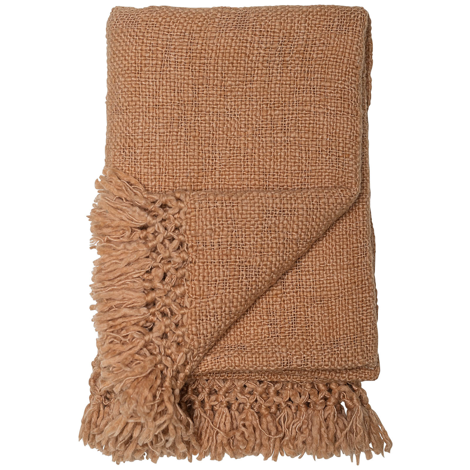 Bloomingville Wool Throw - Brown