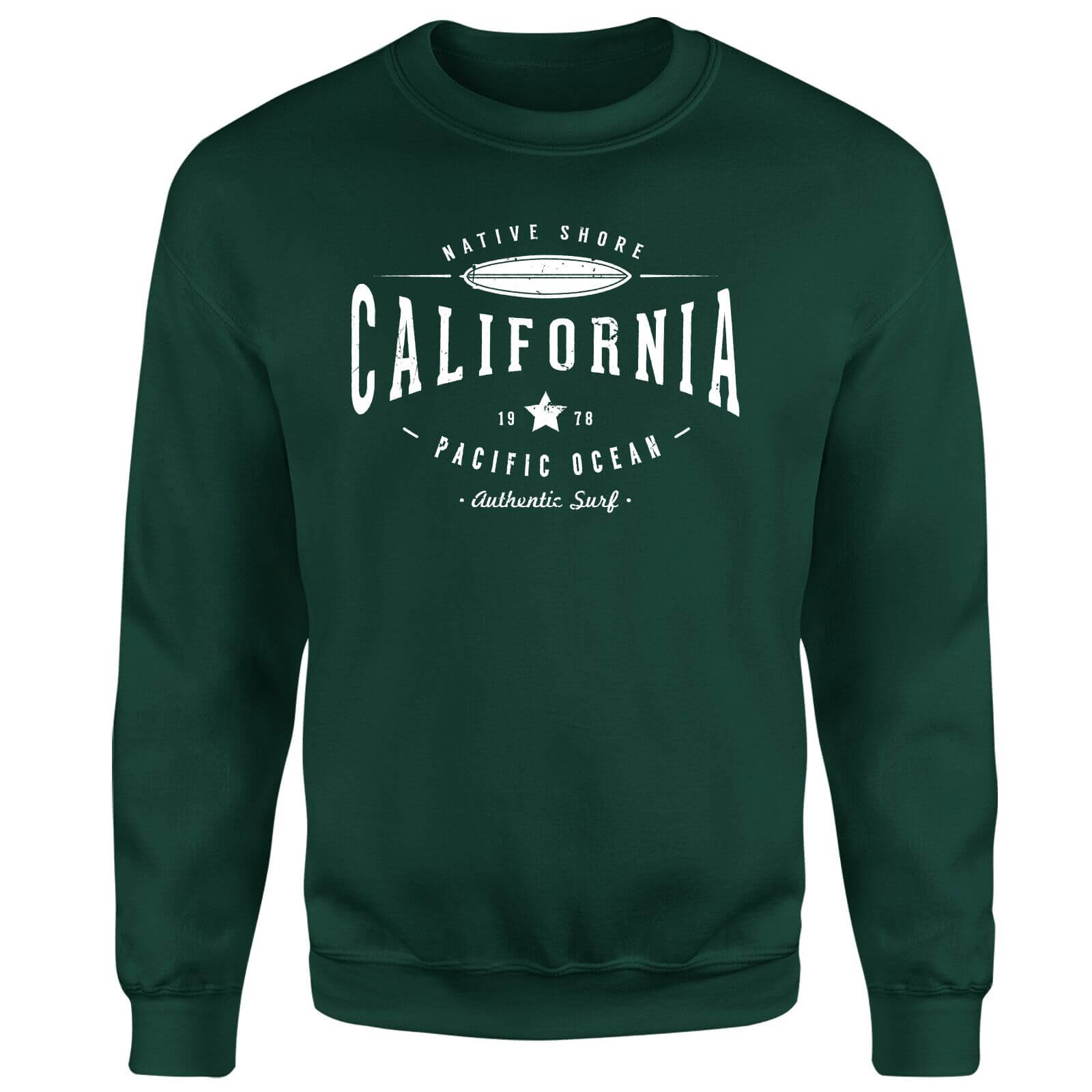 Native Shore California Sweatshirt - Forest Green