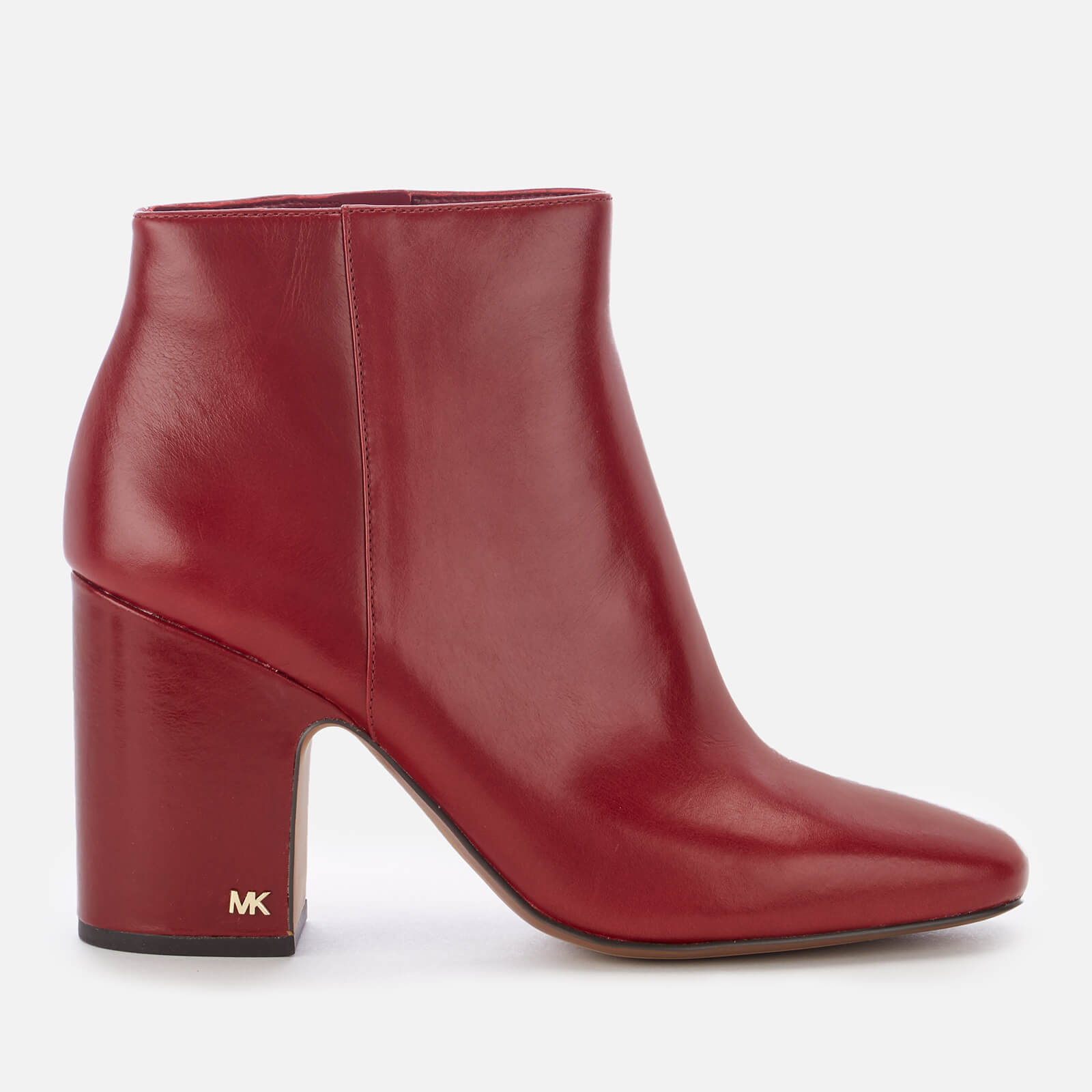 74db2bd301 MICHAEL MICHAEL KORS Women's Elaine Leather Heeled Ankle Boots - Mulberry