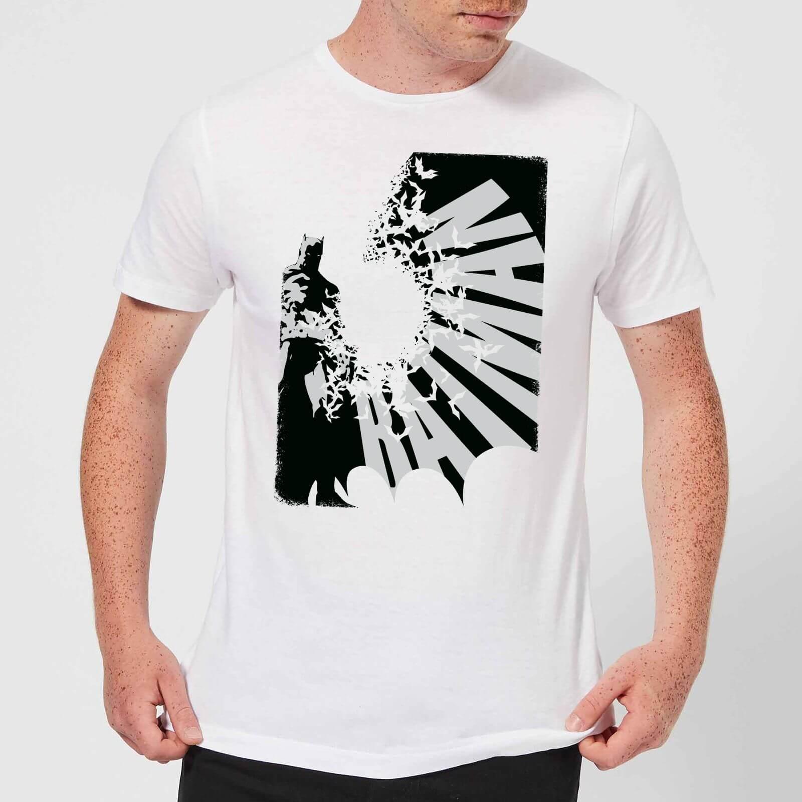 4f8d8e1cd4e4 DC Comics Batman Bat Spread T-Shirt - White Clothing