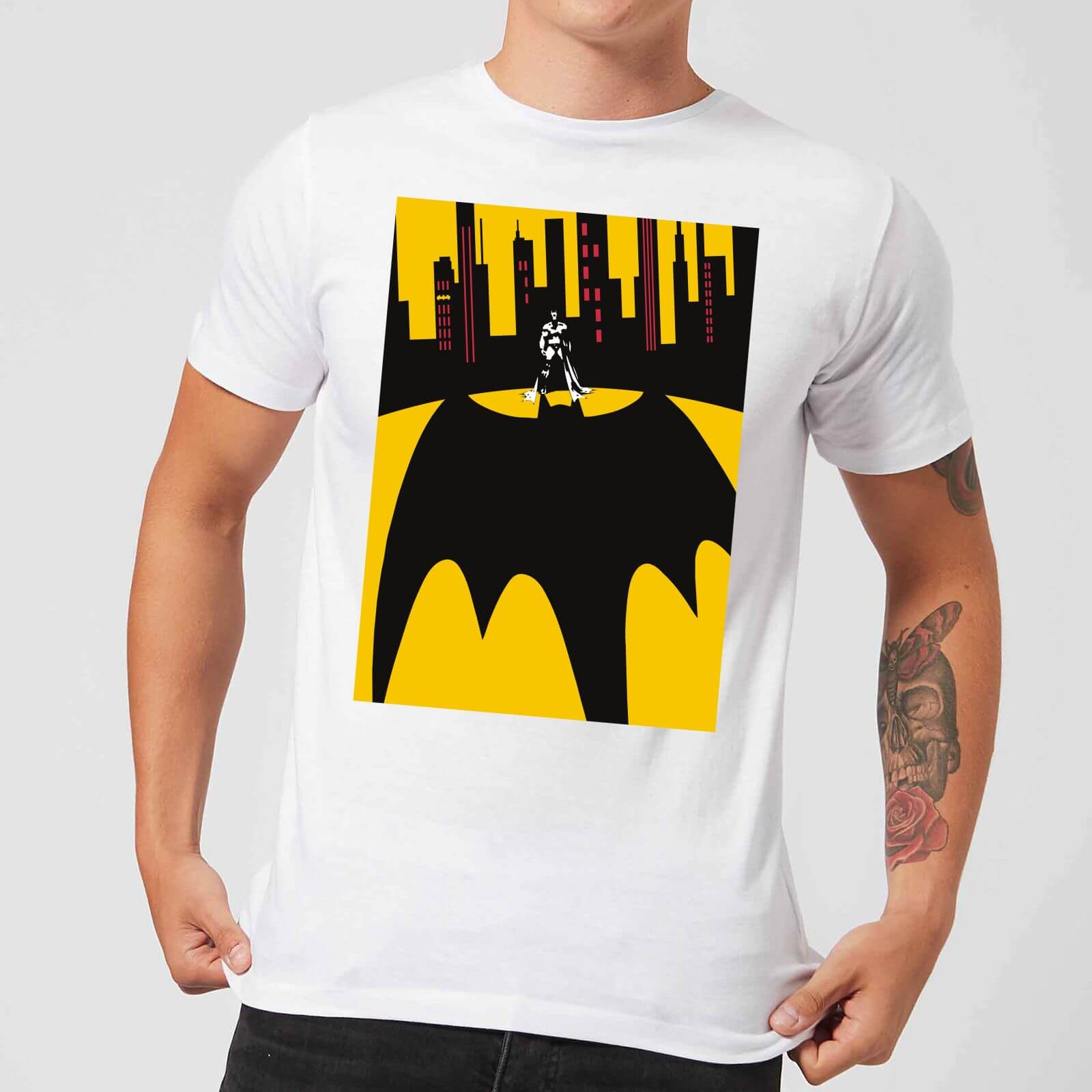 df4934aec262f DC Comics Batman Bat Shadow T-Shirt - White Clothing   Zavvi