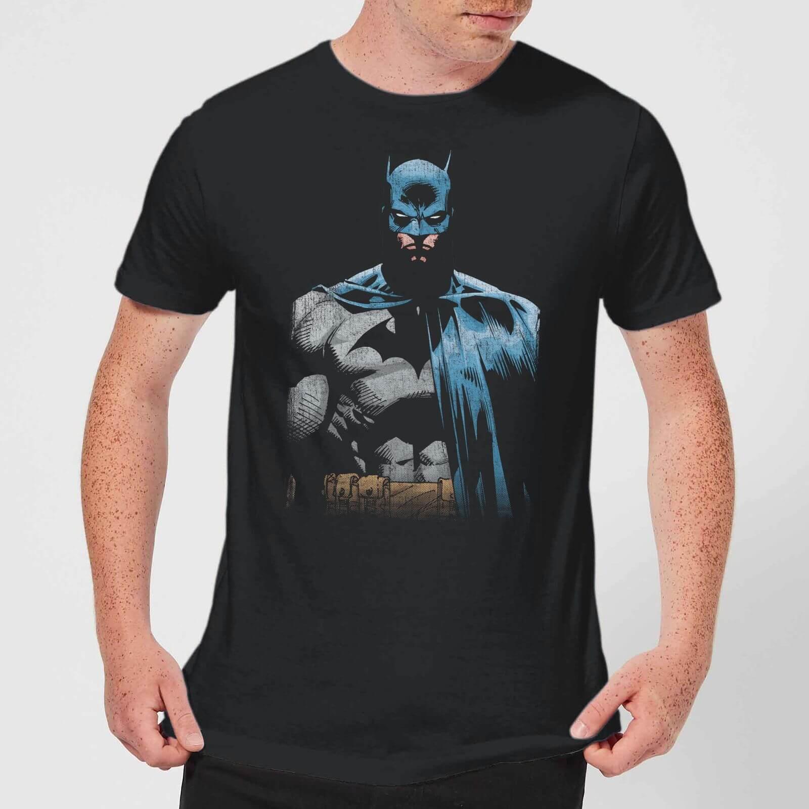 8dd6f771b DC Comics Batman Close Up T-Shirt - Black Clothing | Zavvi