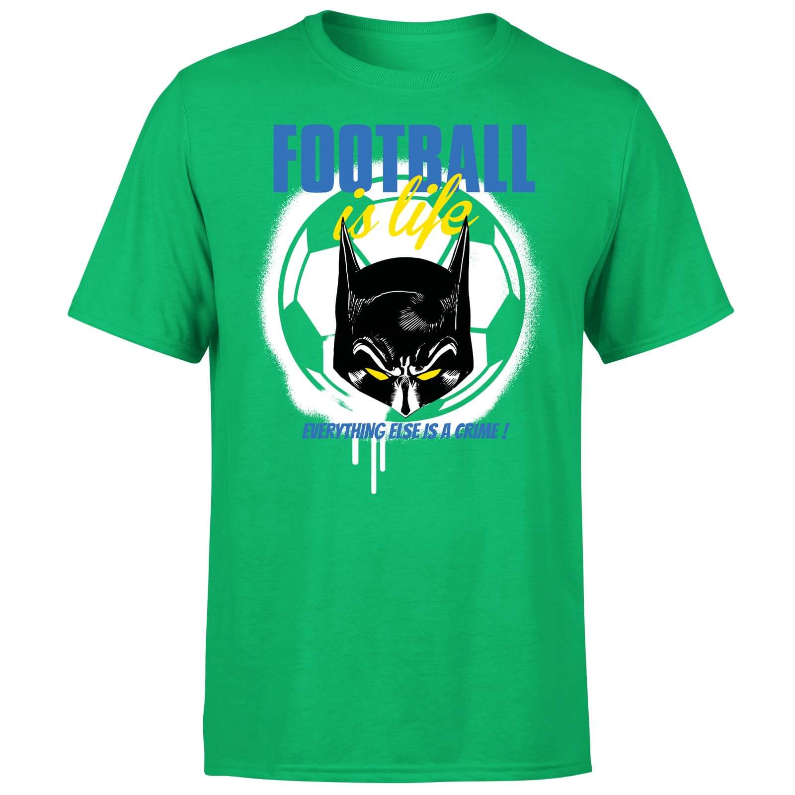 DC Comics Batman Football Is Life T-Shirt - Kelly Green