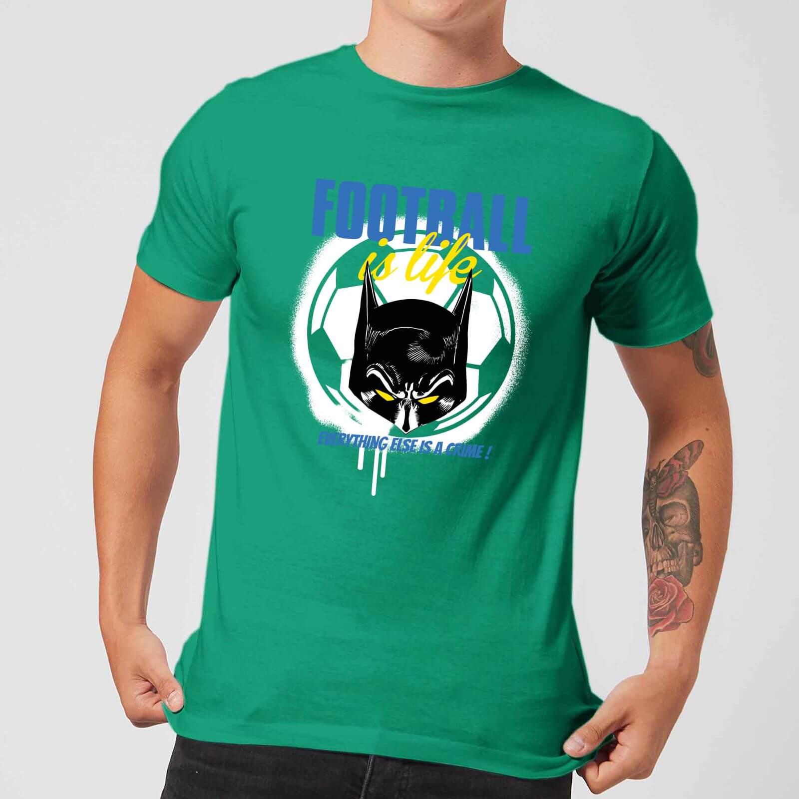 Dc Comics Batman Football Is Life T Shirt Kelly Green Clothing