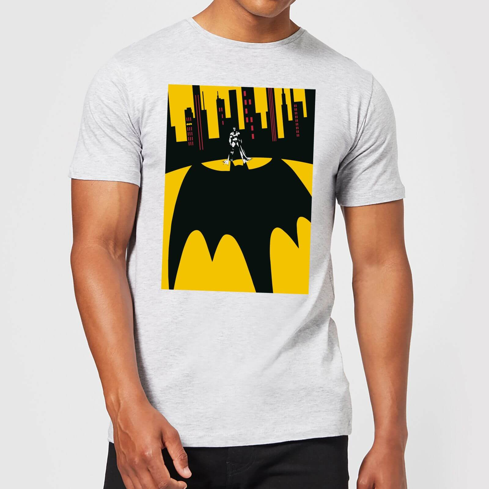 3cda46f154a00 DC Comics Batman Bat Shadow T-Shirt - Grey   IWOOT
