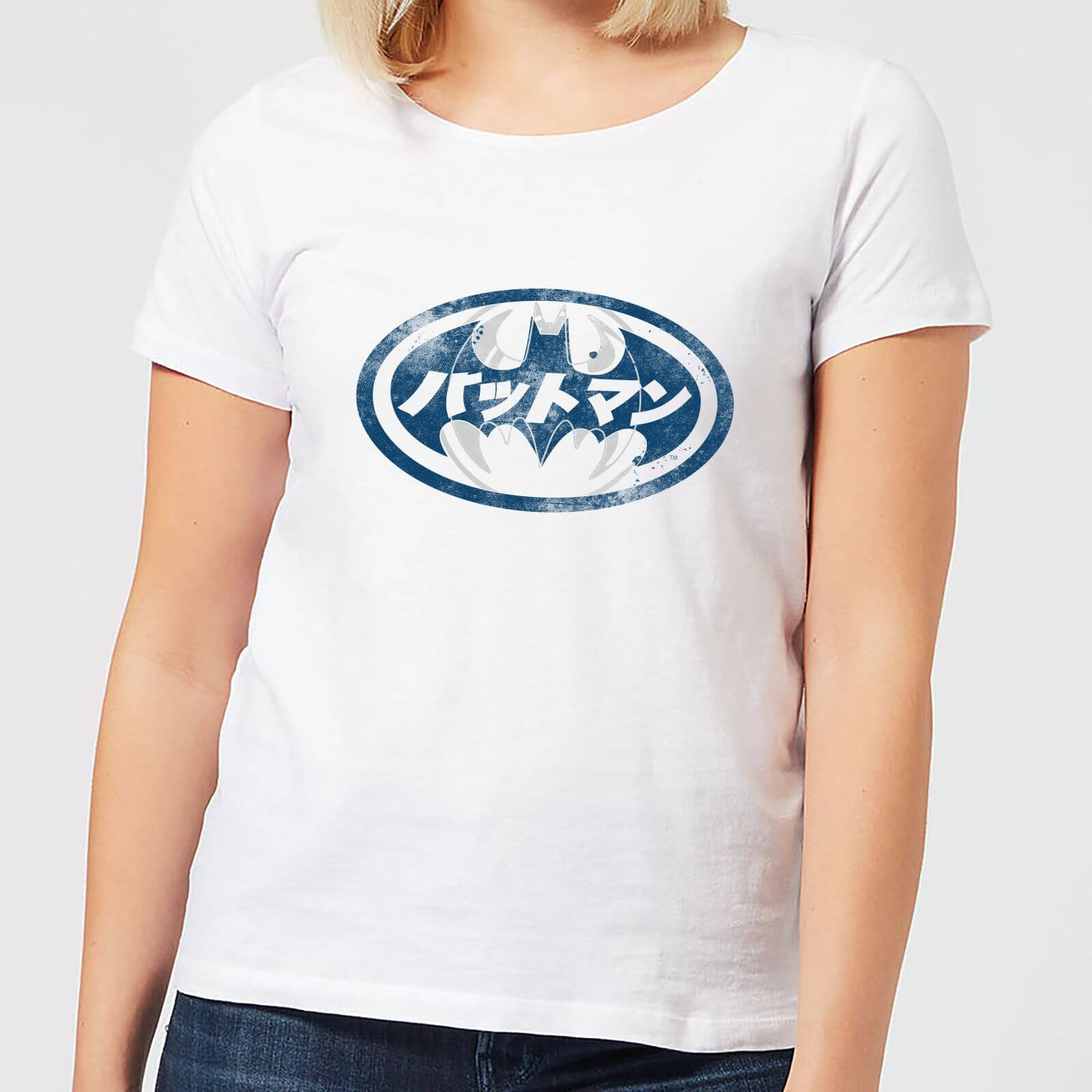 75394ecfa DC Comics Batman Japanese Logo Women's T-Shirt - White Clothing | Zavvi