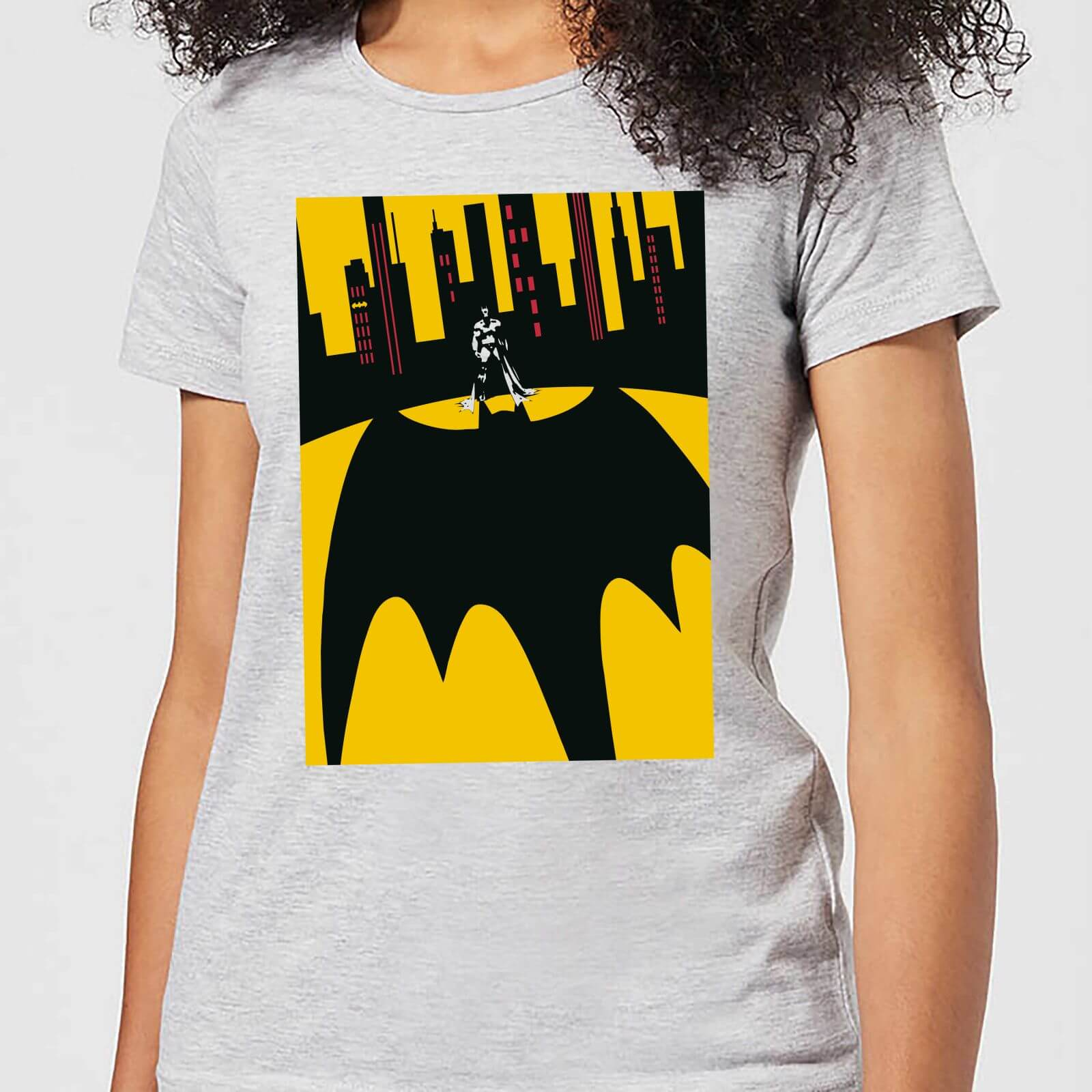 3c8eaf5d168a4 DC Comics Batman Bat Shadow Women s T-Shirt - Grey   My Geek Box