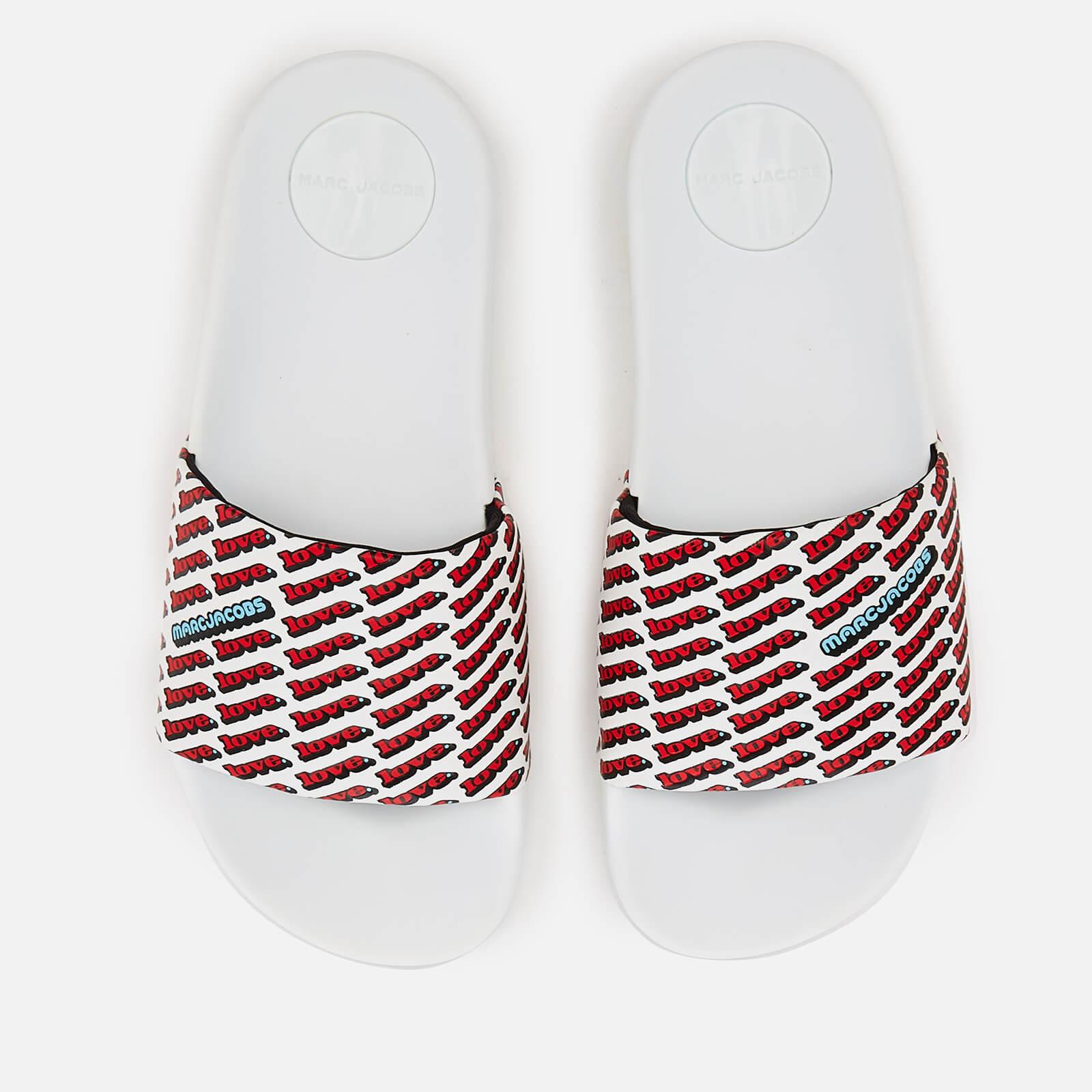 6799da1b31fe46 Marc Jacobs Women s Love Aqua Slide Sandals - White Multi - Free UK  Delivery over £50