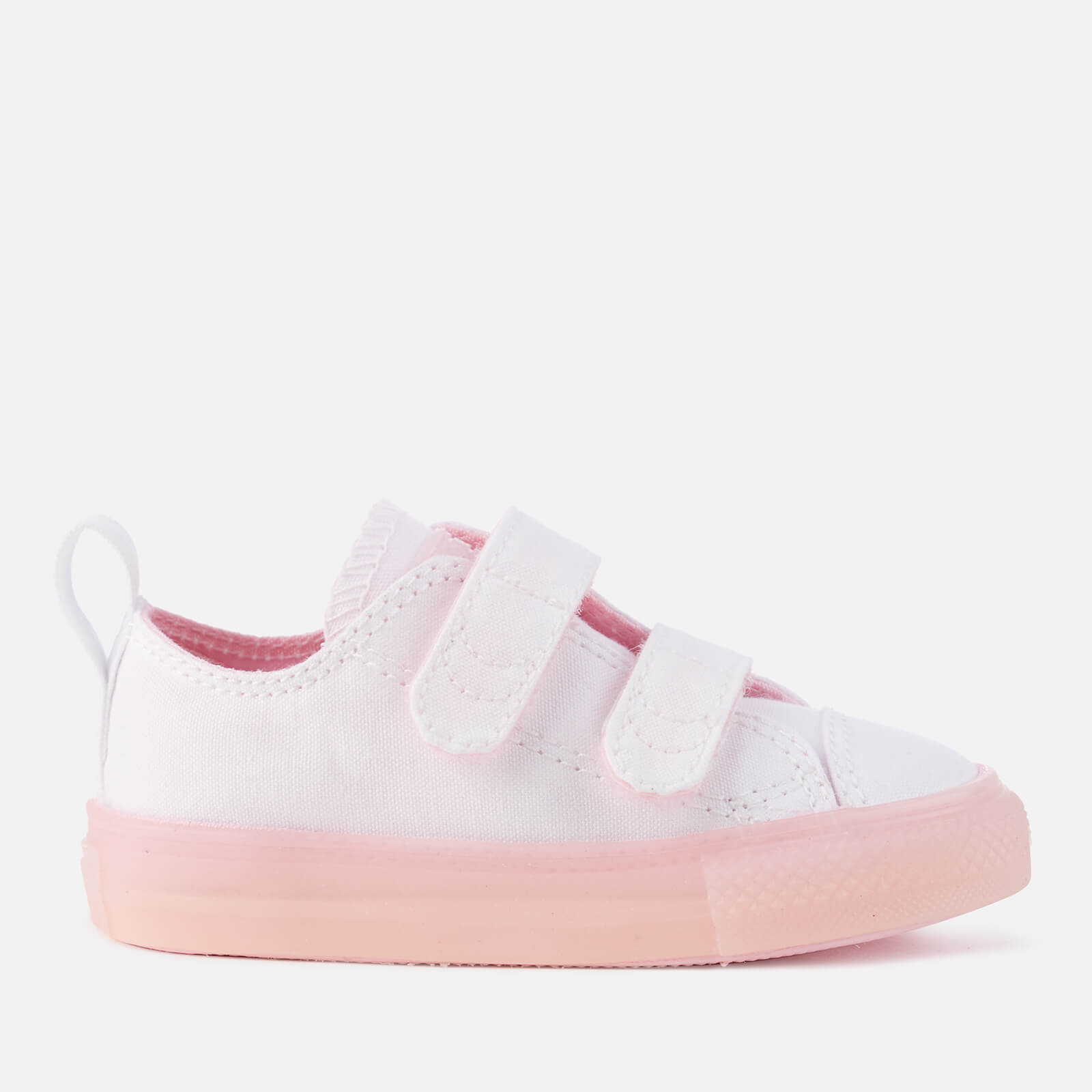 b01f60bf65ca Converse Toddlers  Chuck Taylor All Star 2V Ox Trainers - White Cherry  Blossom Junior Clothing