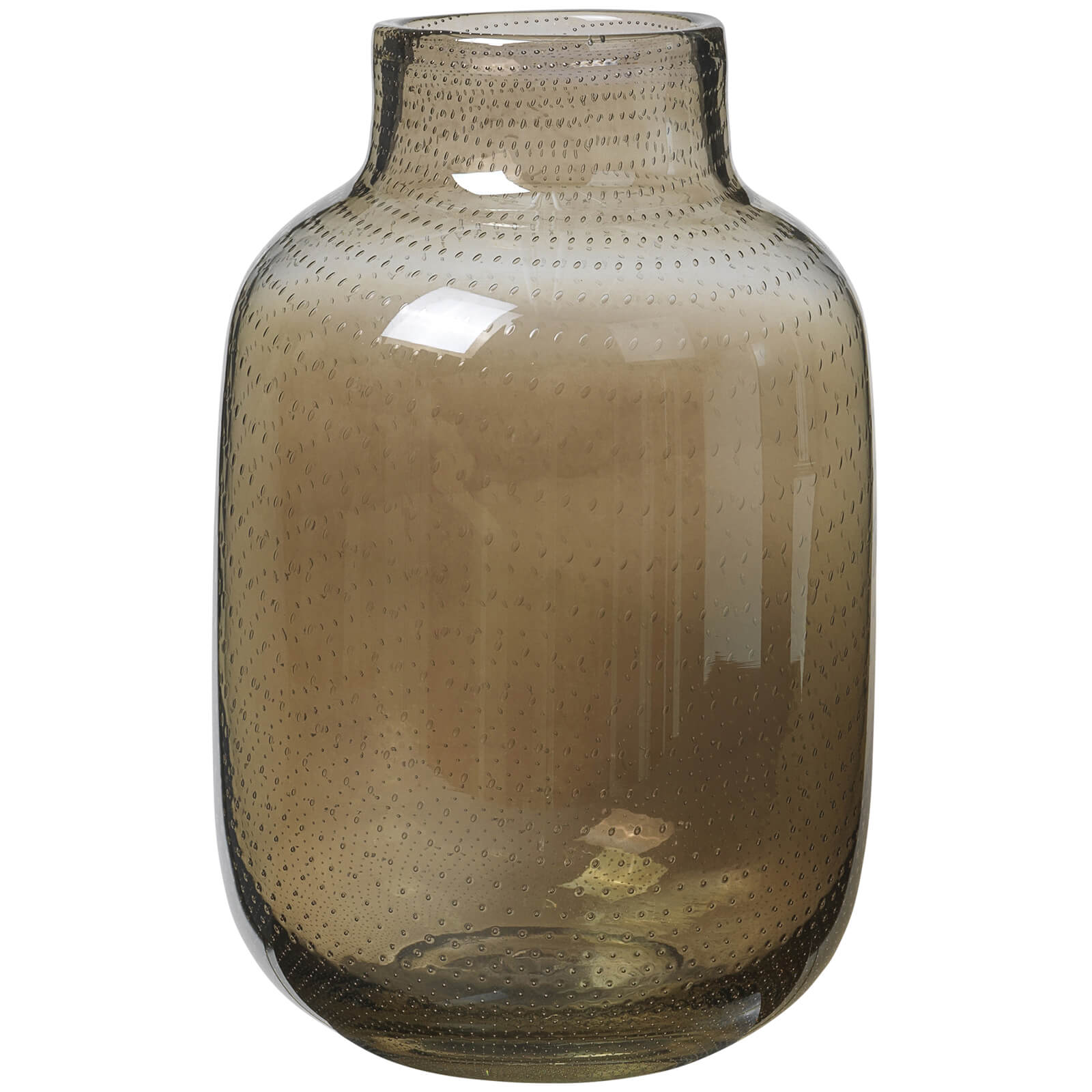 Broste Copenhagen Gefin Mouthblown Glass Vase - Brown