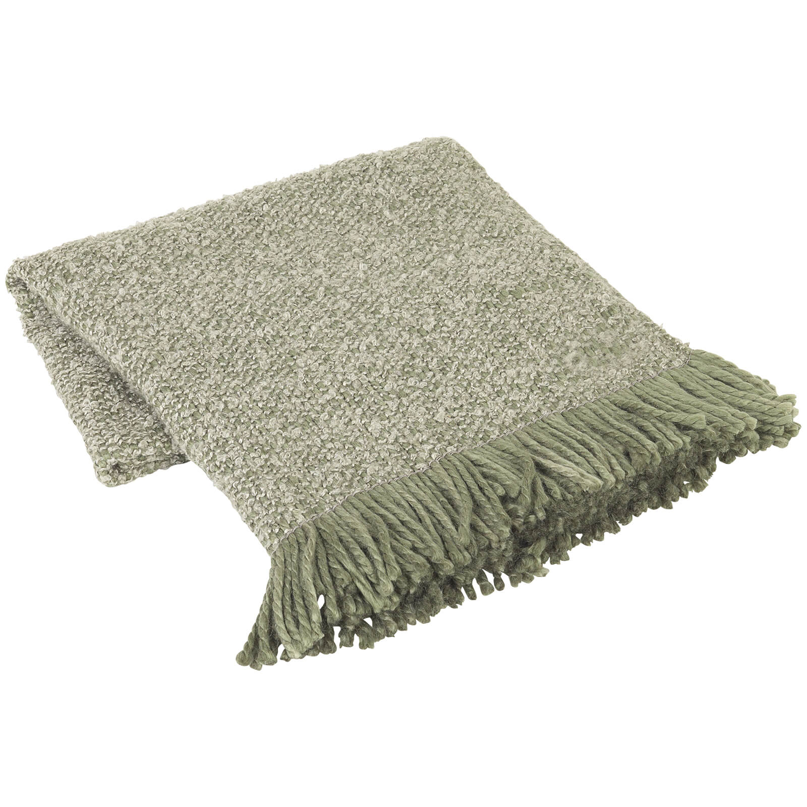 Broste Copenhagen Harold Throw - Dusty Olive