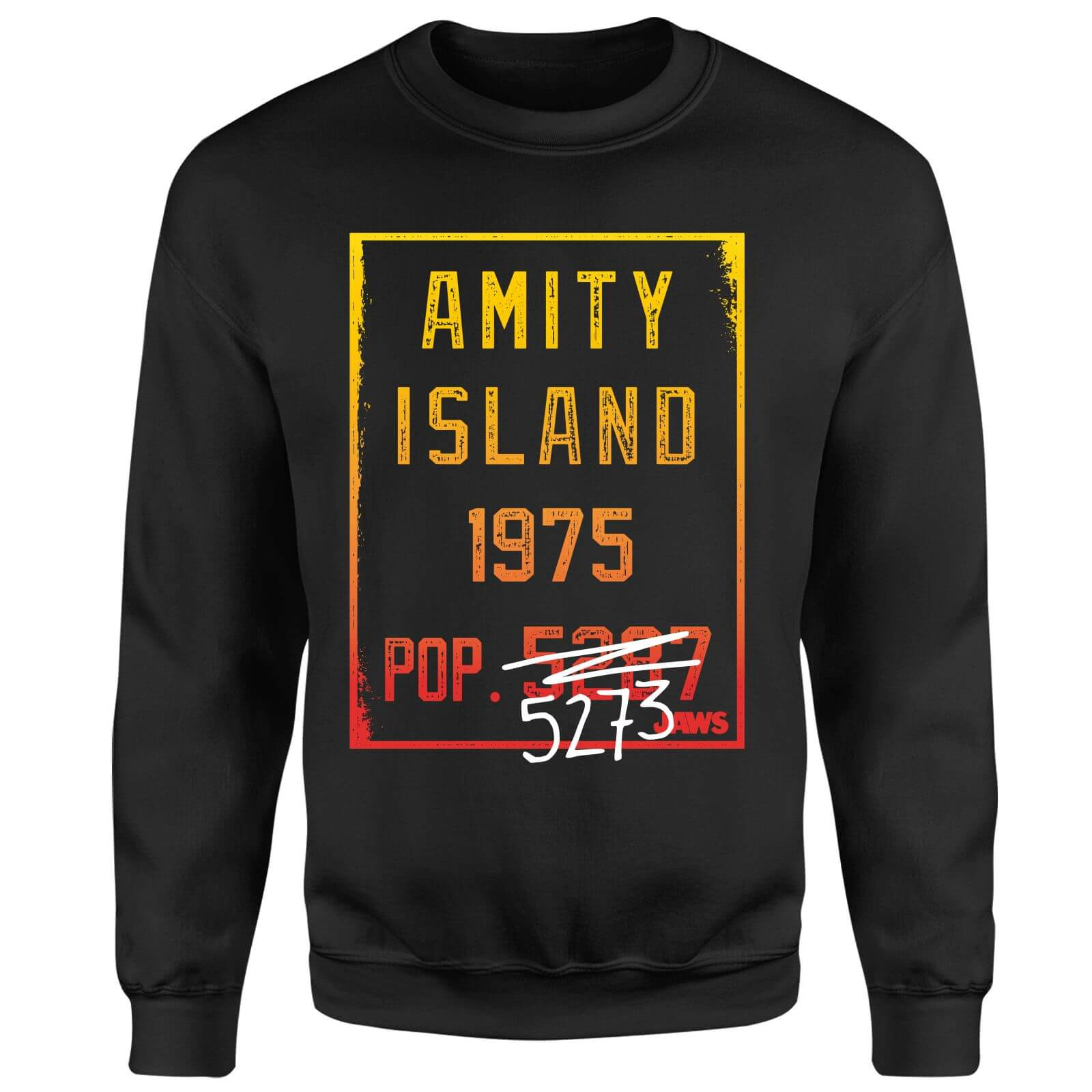 Jaws Amity Population Sweatshirt - Black