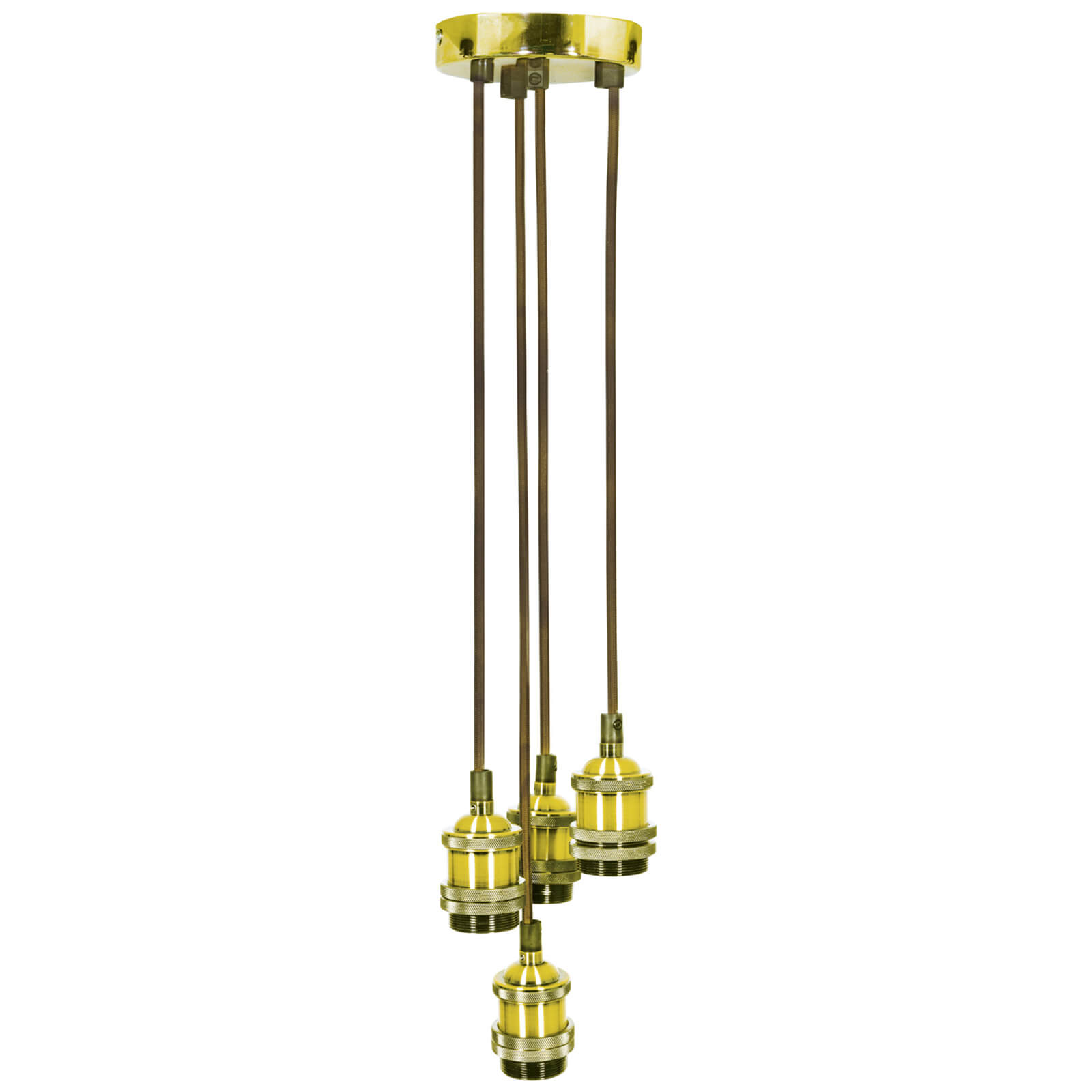 Lyyt Quad E27 Pendant Cord Set - Bright Gold