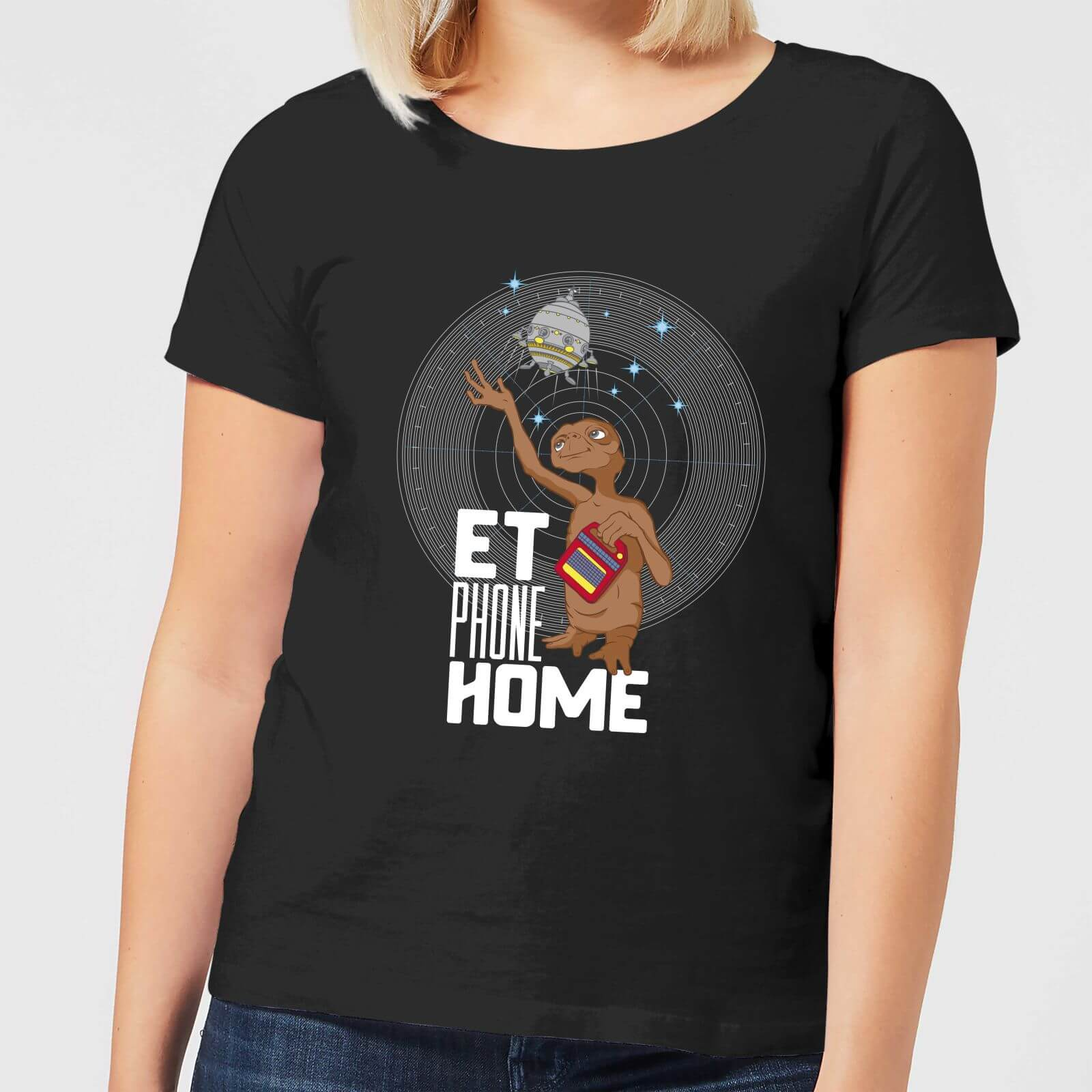 0646532df ET E.T. Phone Home Women's T-Shirt - Black Clothing | Zavvi