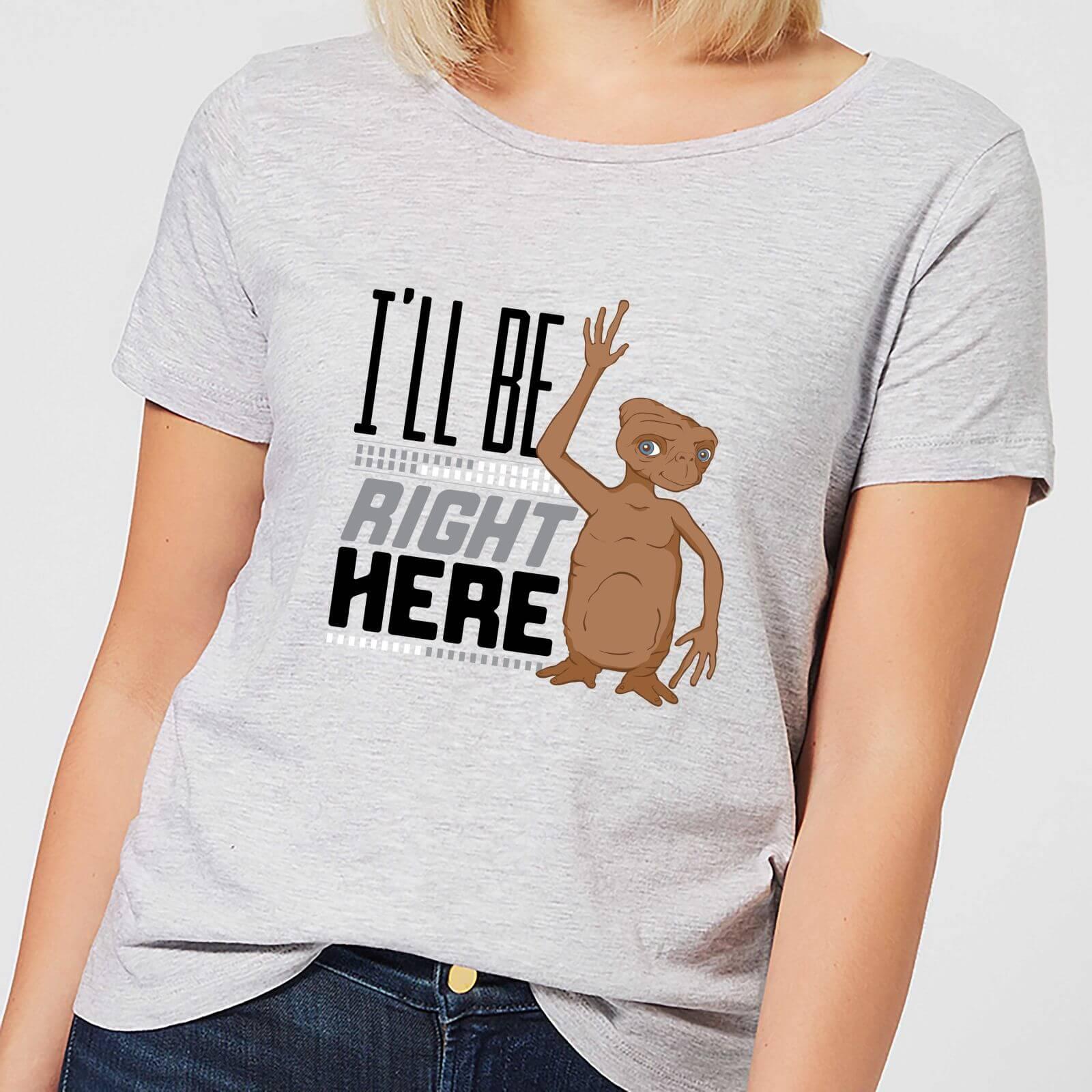 4984de3b ET I'll Be Right Here Women's T-Shirt - Grey Clothing | Zavvi