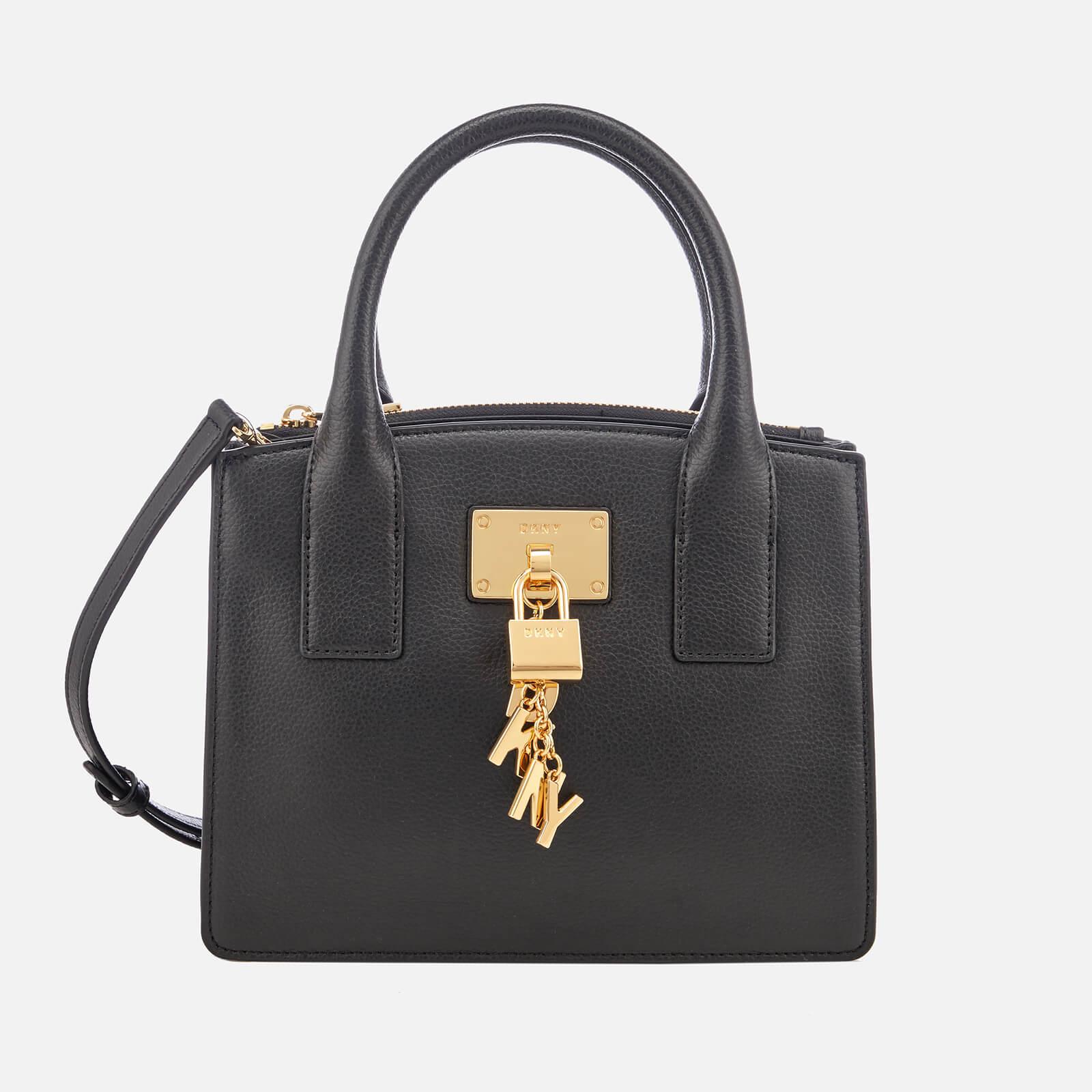 33879b3222f DKNY Women's Elissa Small Tote Bag - Black/Gold