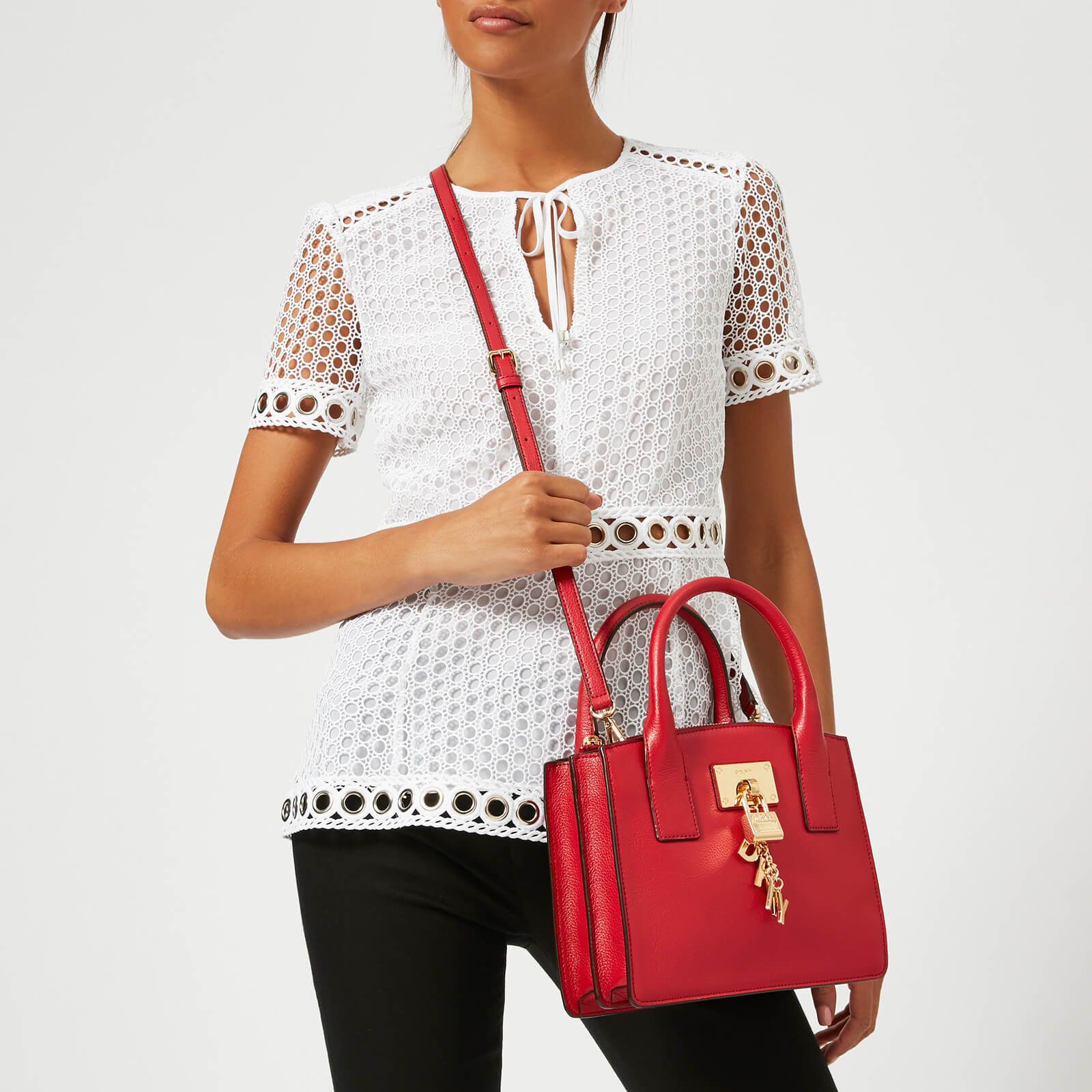 DKNY Women's Elissa Small Tote Bag - Safari Red