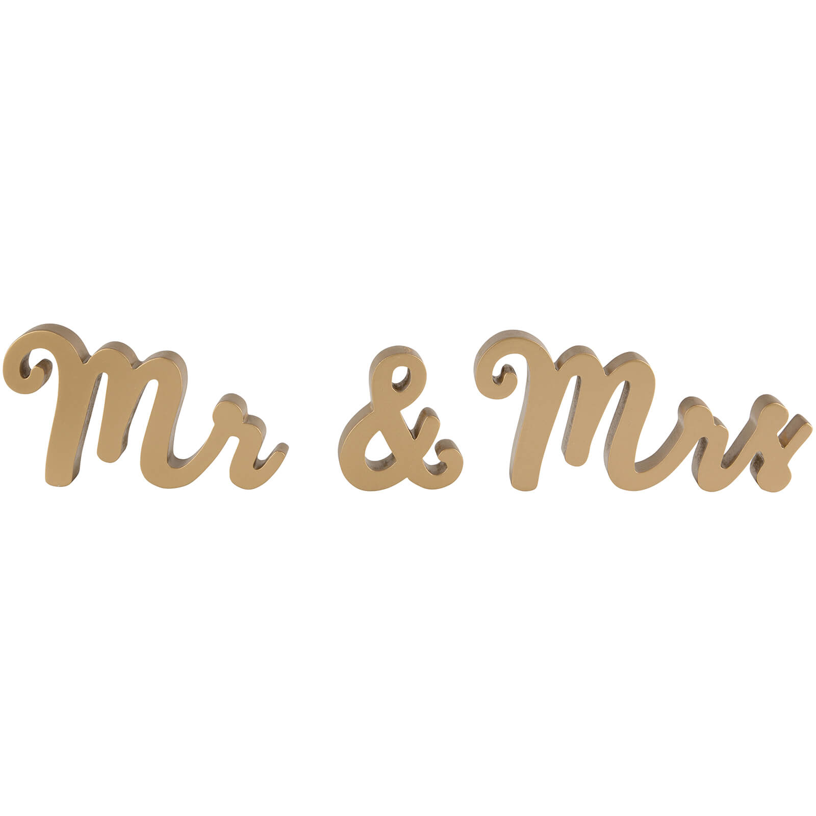 Sass & Belle Mr & Mrs Gold Standing Letters