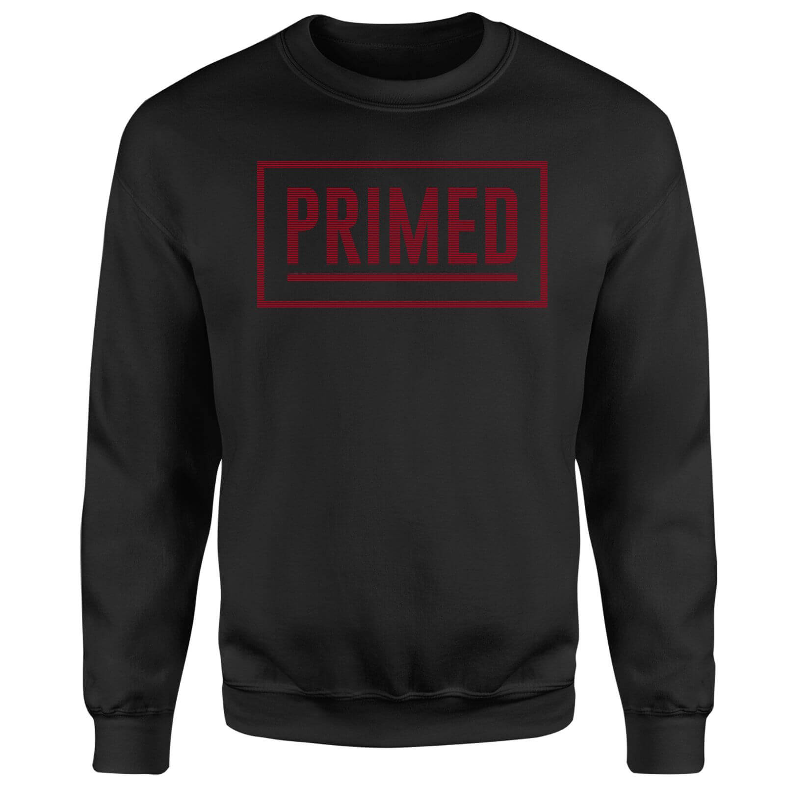 Primed Boxed Logo Sweatshirt - Black