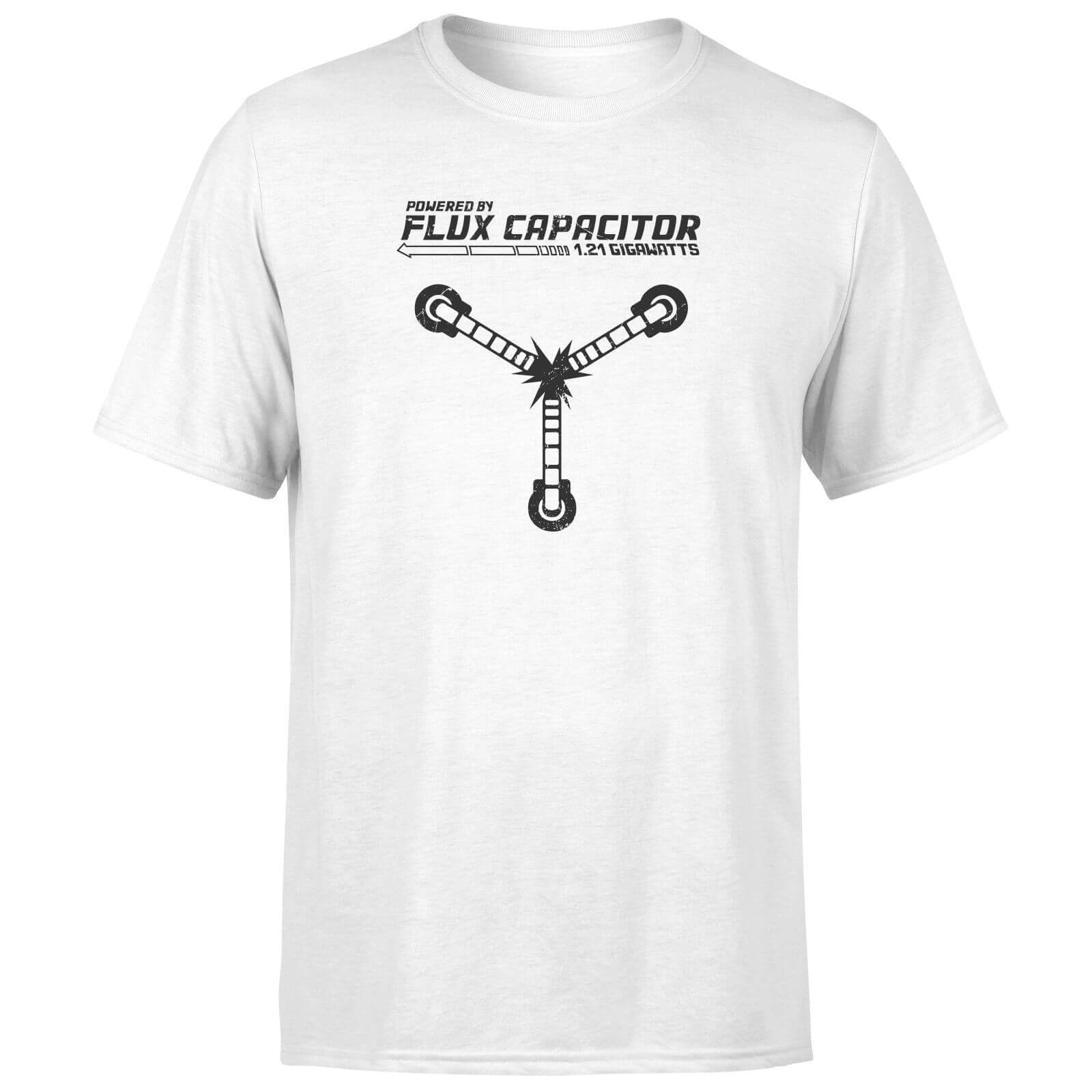 Back To The Future Powered By Flux Capacitor T-Shirt - White