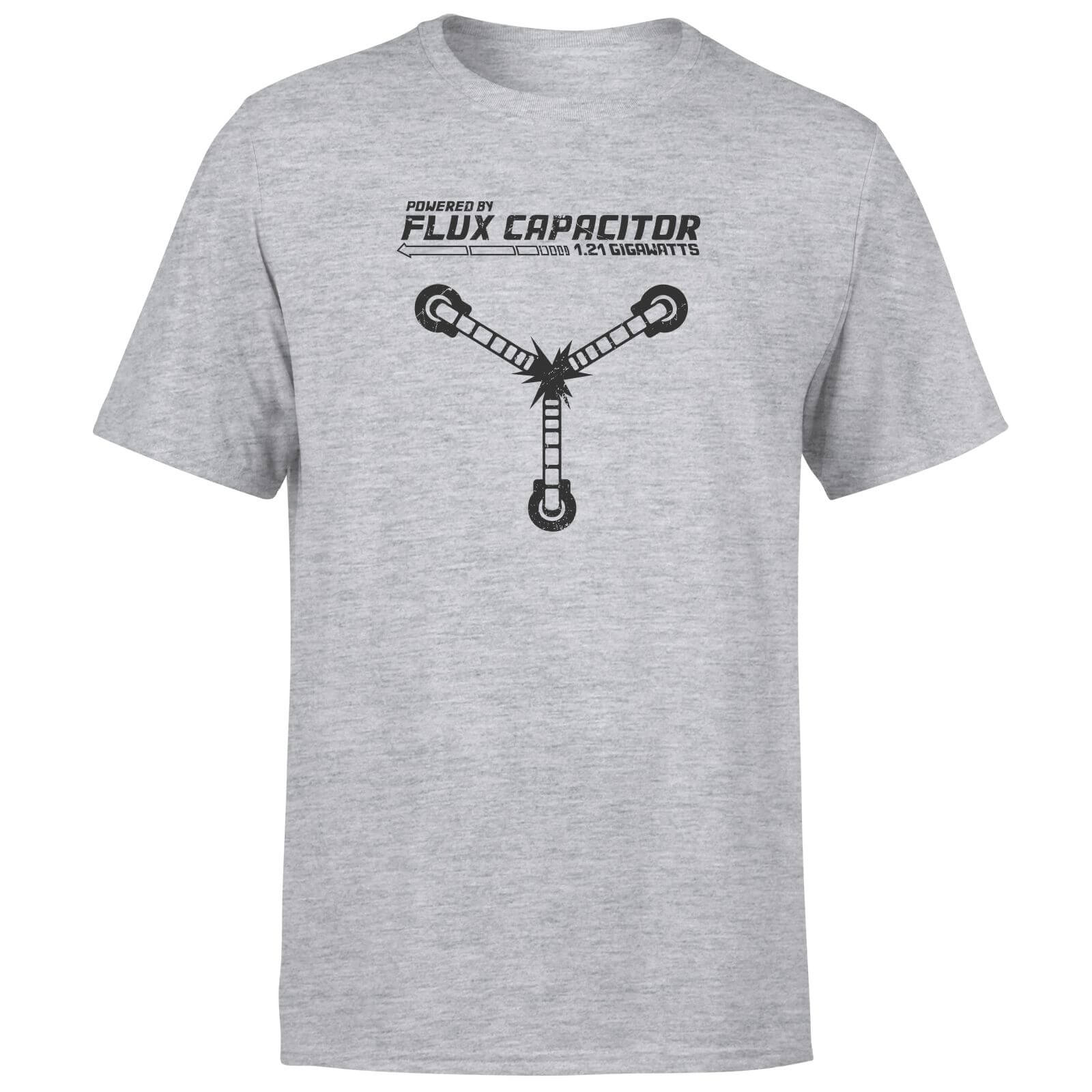 Back To The Future Powered By Flux Capacitor T-Shirt - Grey