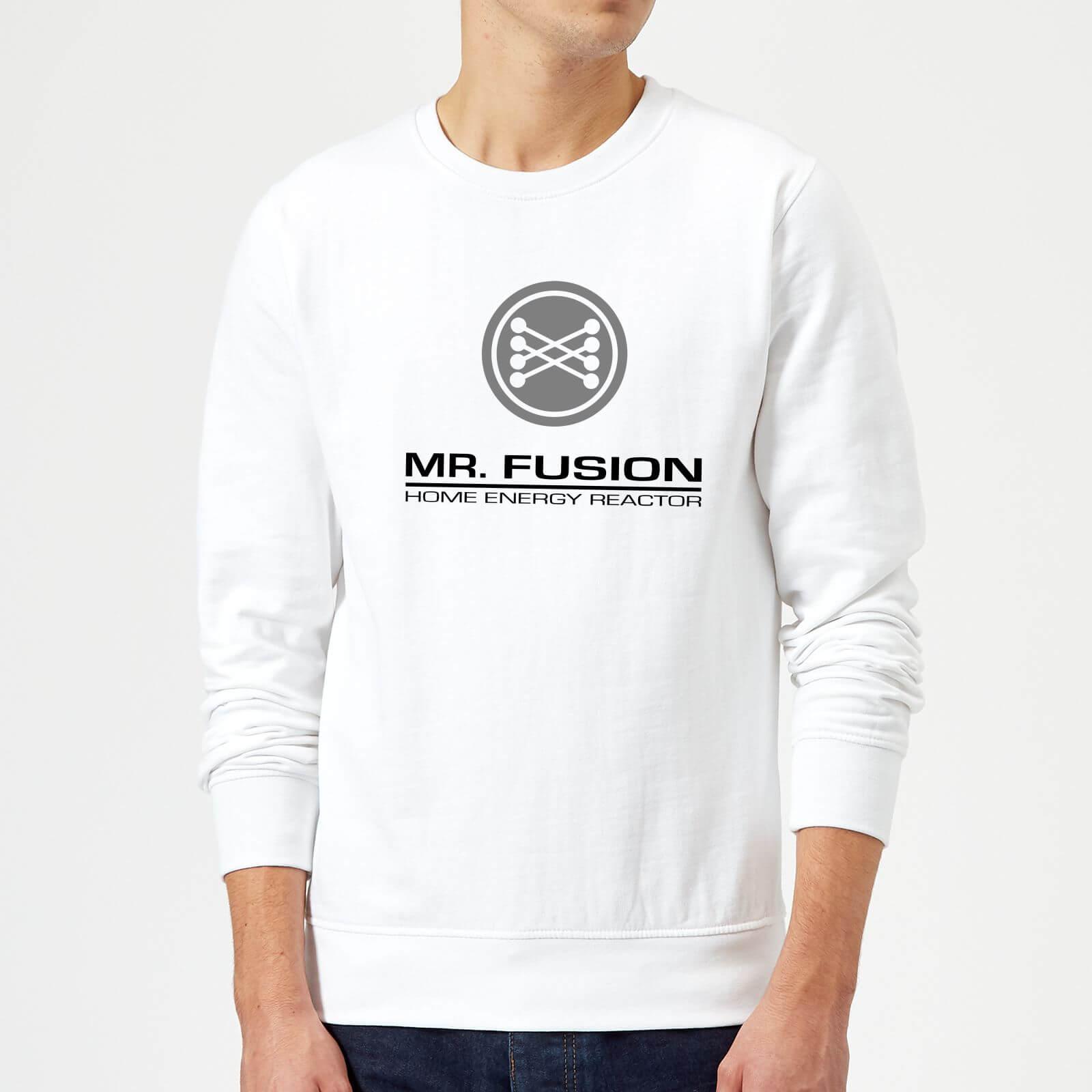 Back To The Future Mr Fusion Sweatshirt White Clothing Zavvi Us