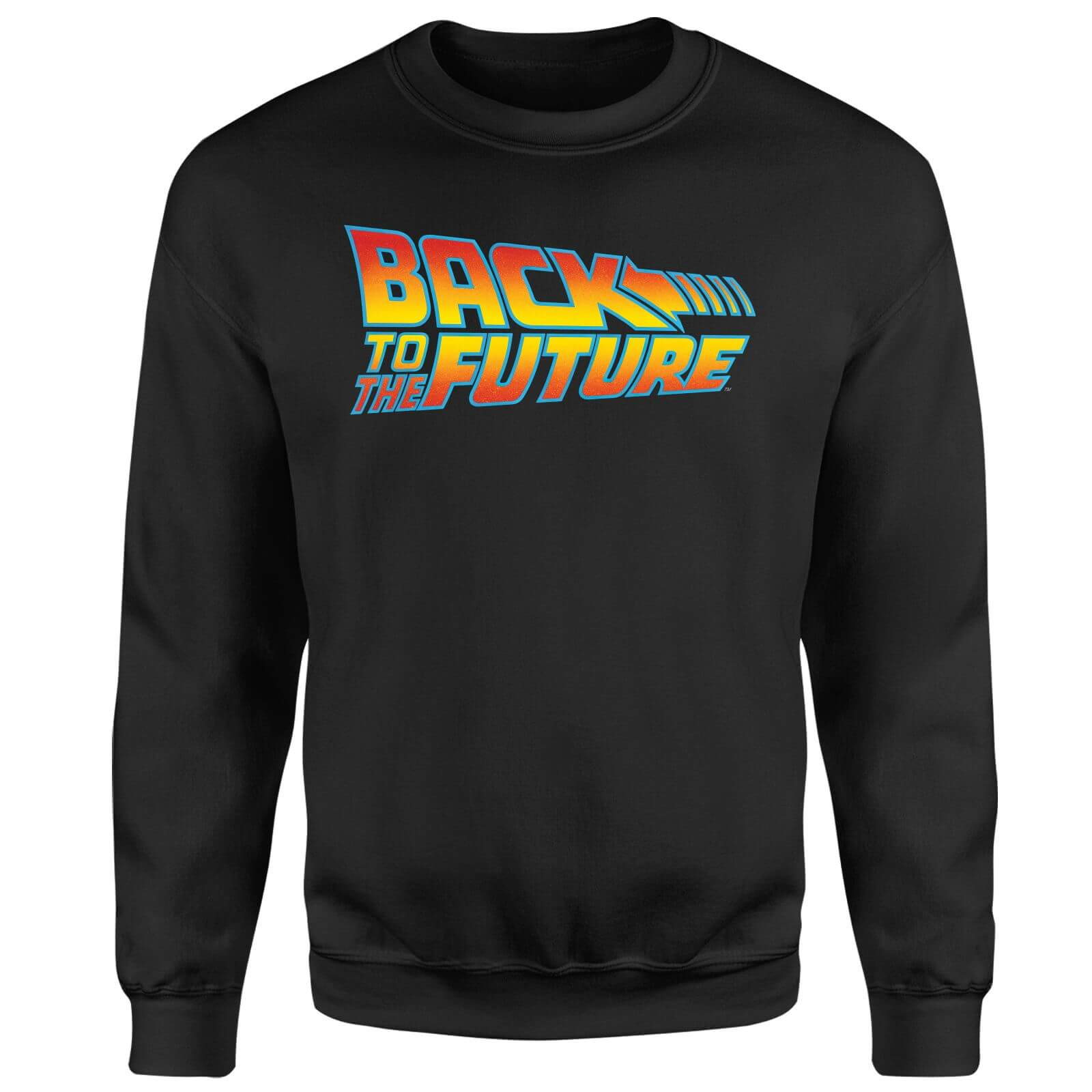 Back To The Future Classic Logo Sweatshirt - Black