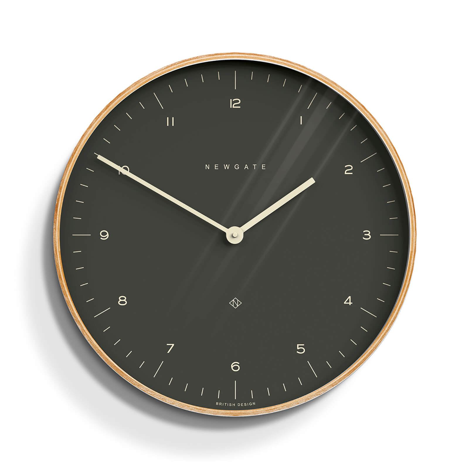 Newgate Mr. Clarke Wall Clock - Oil Grey