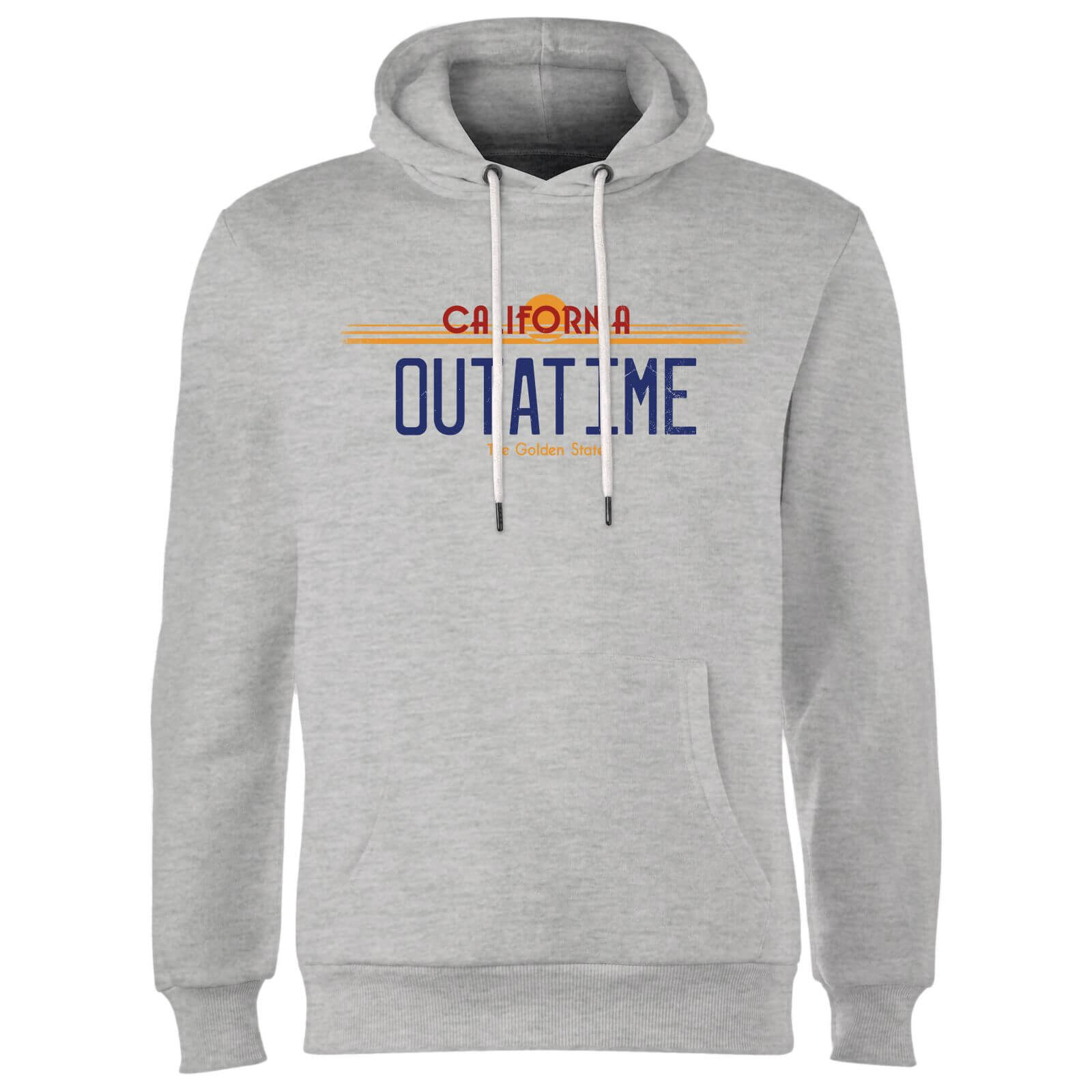 Back To The Future Outatime Plate Hoodie - Grey