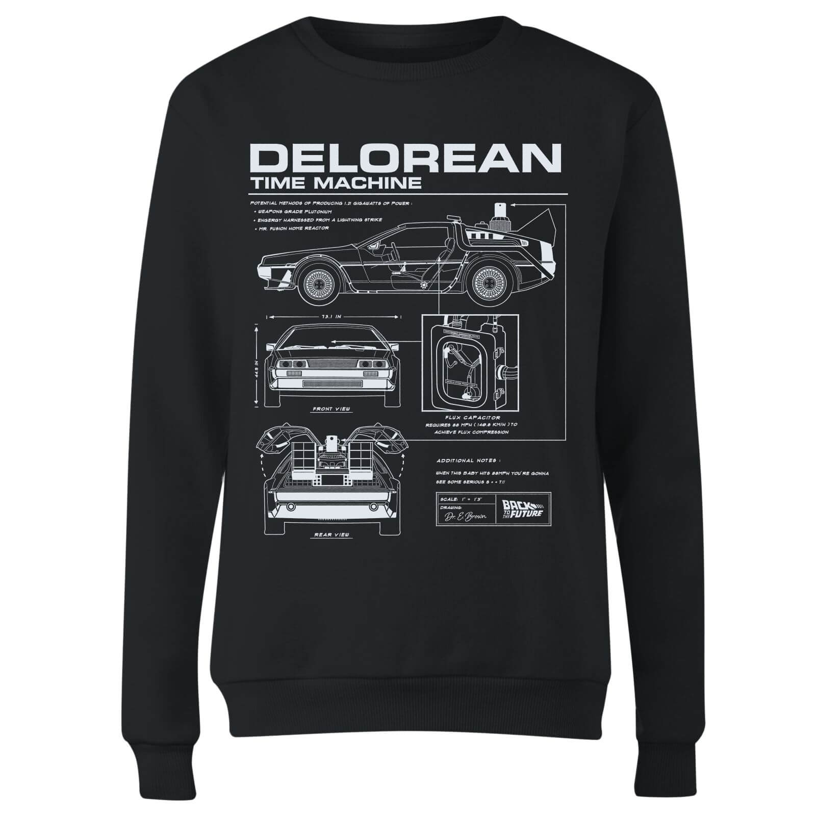 Back To The Future DeLorean Schematic Women