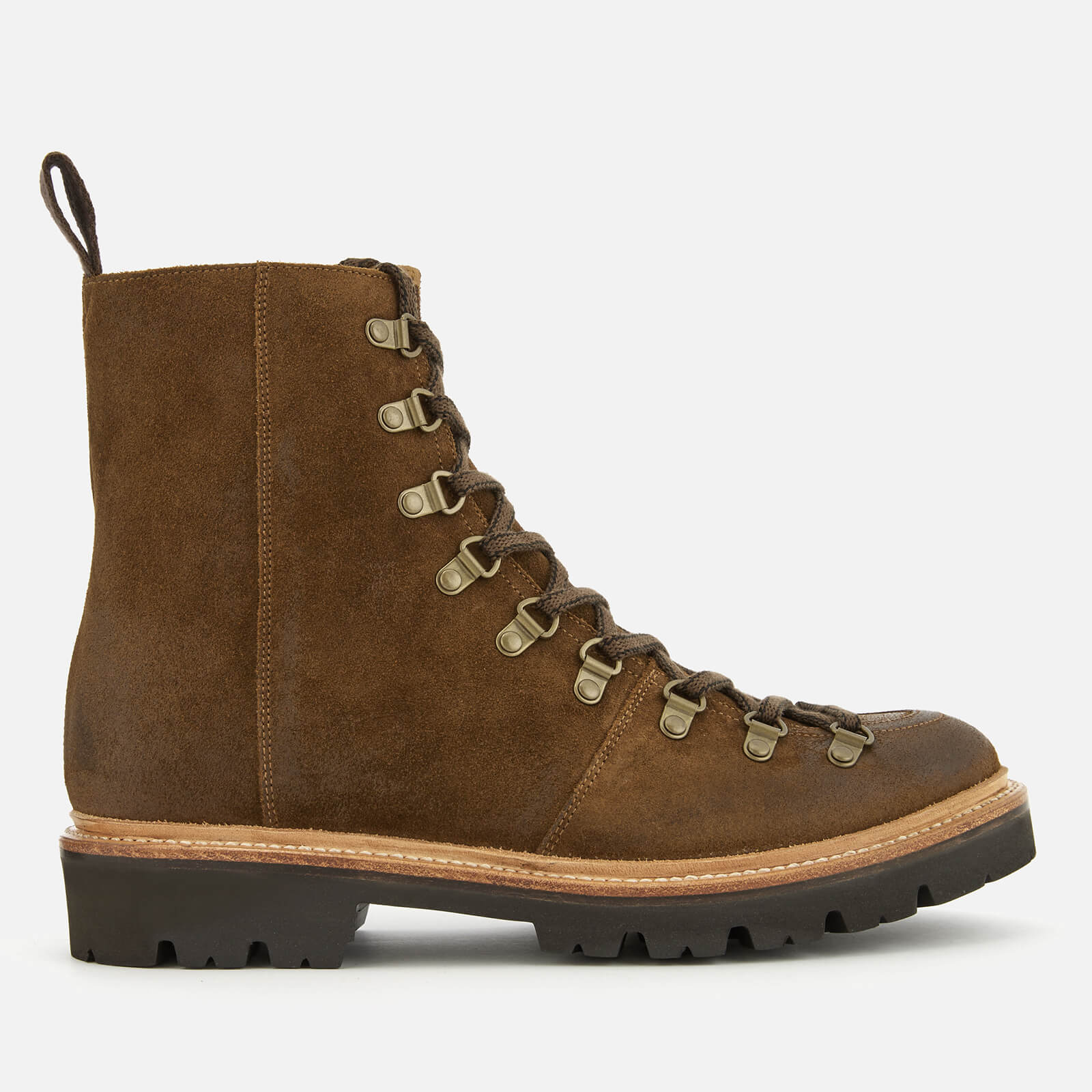 5992cb64291 Grenson Men s Brady Burnished Suede Hiker Lace Up Boots - Snuff ...