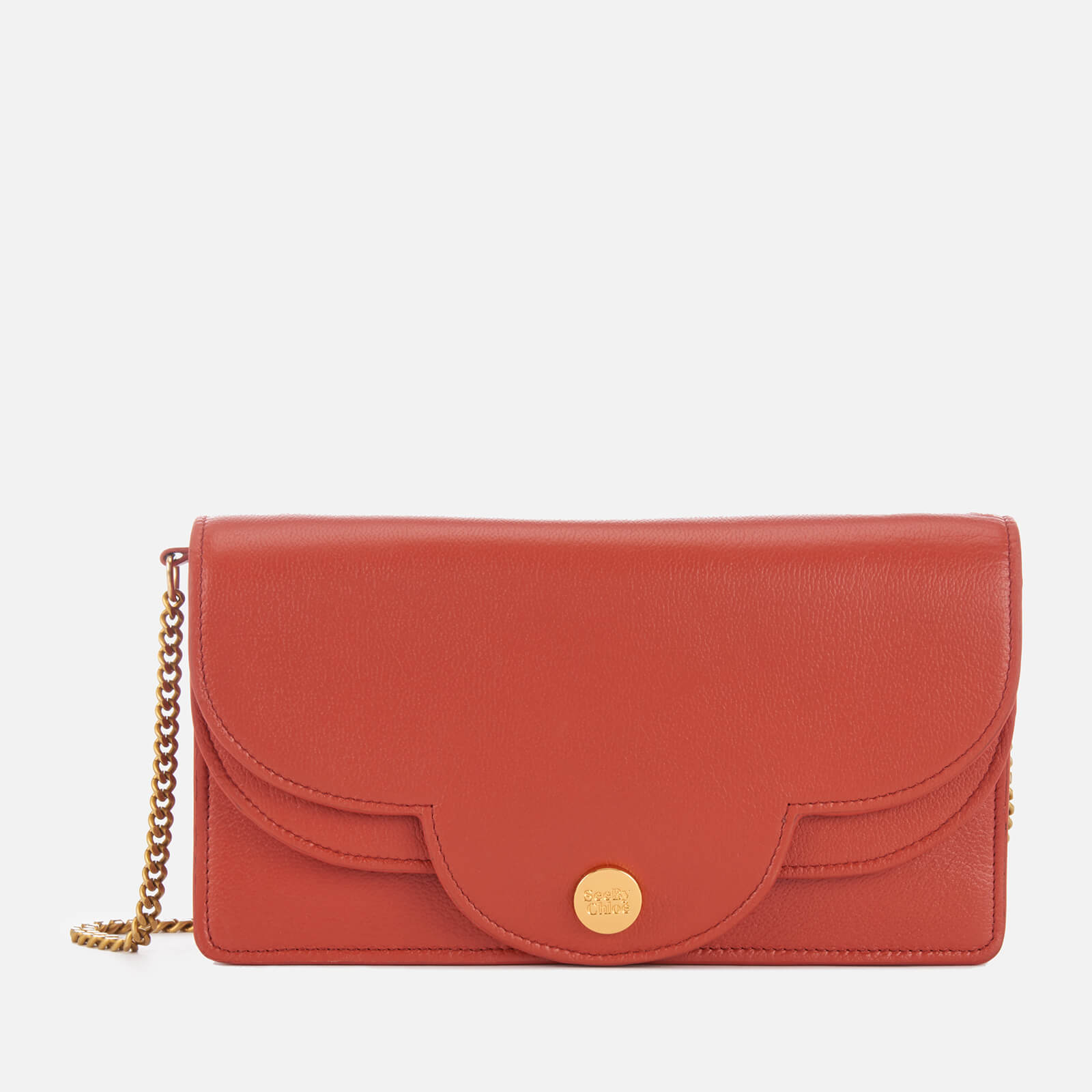 9134a12c5f See By Chloé Women's Polina Chain Bag - Red Sand
