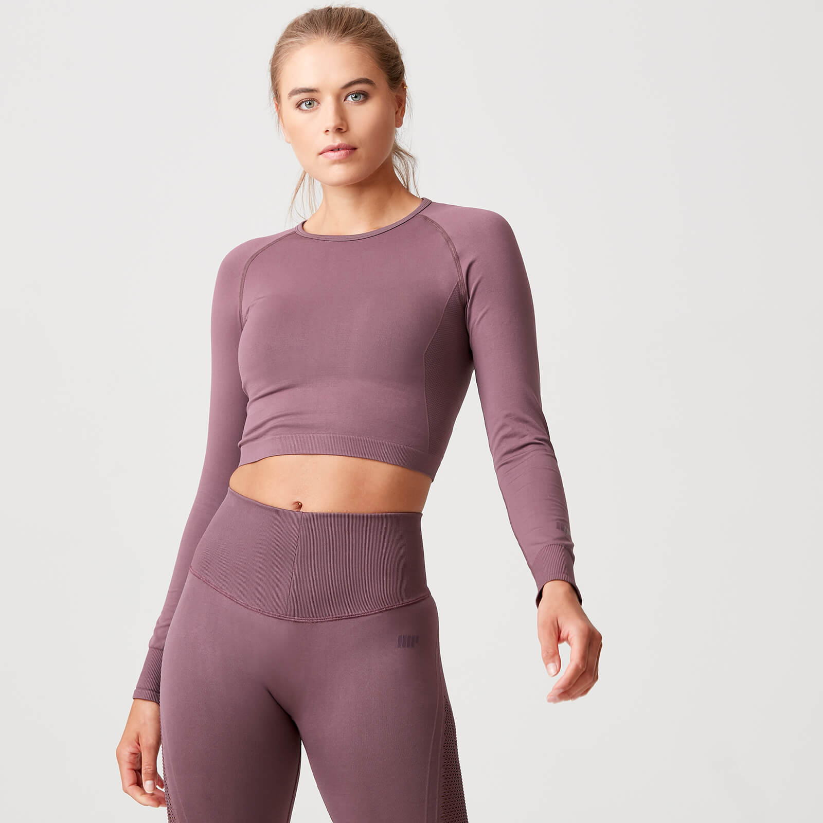 Shape Seamless Crop Top - Mauve - XS