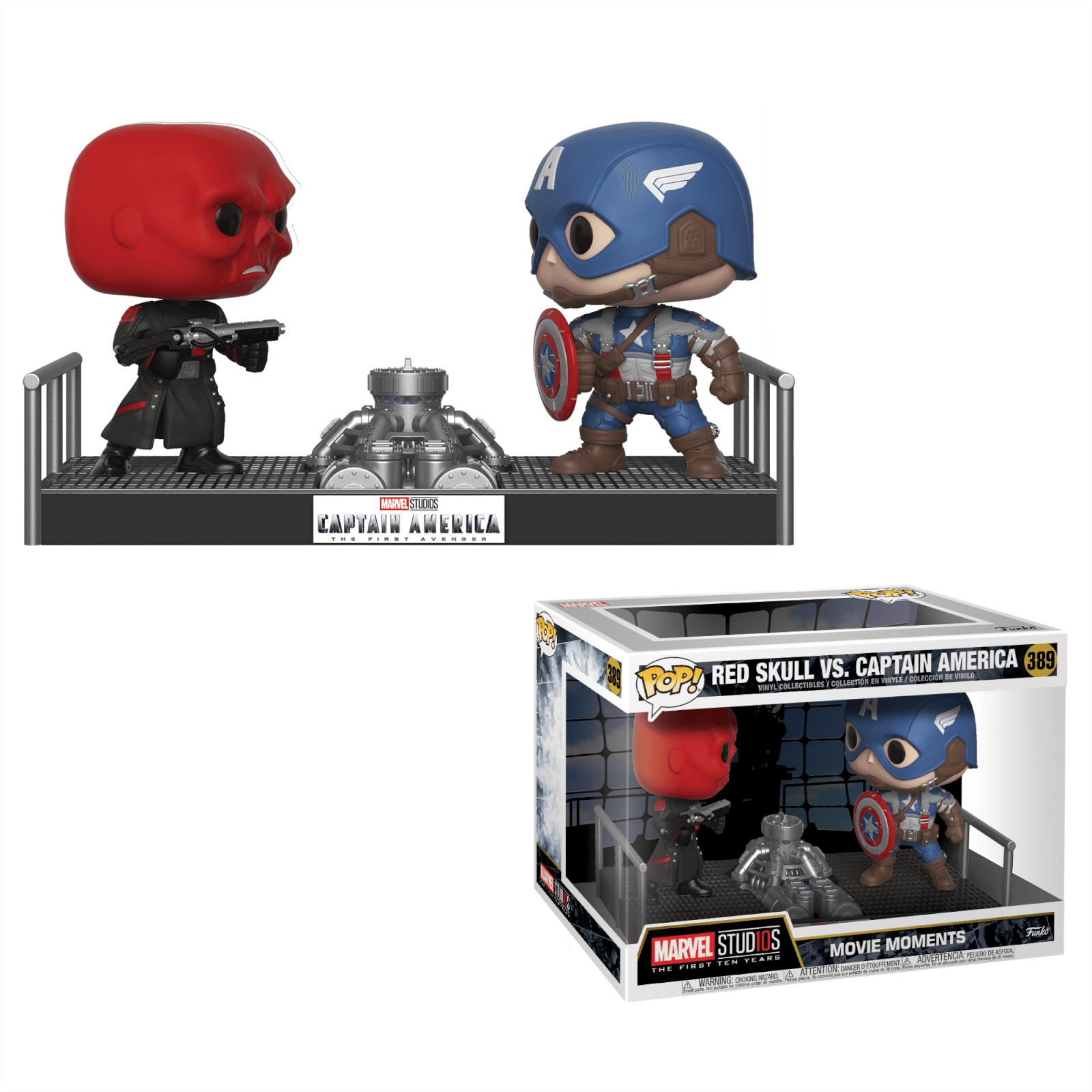 Figurine Pop Captain America Vs Red Skull Movie Moment