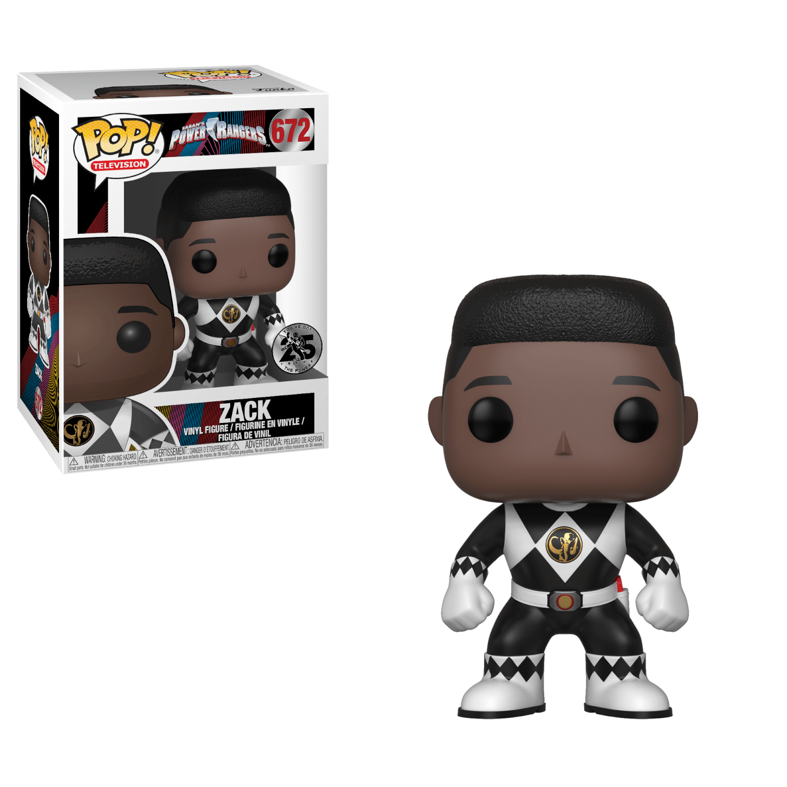 f46d2ba635a Power Rangers Black Ranger Zack Pop! Vinyl Figure