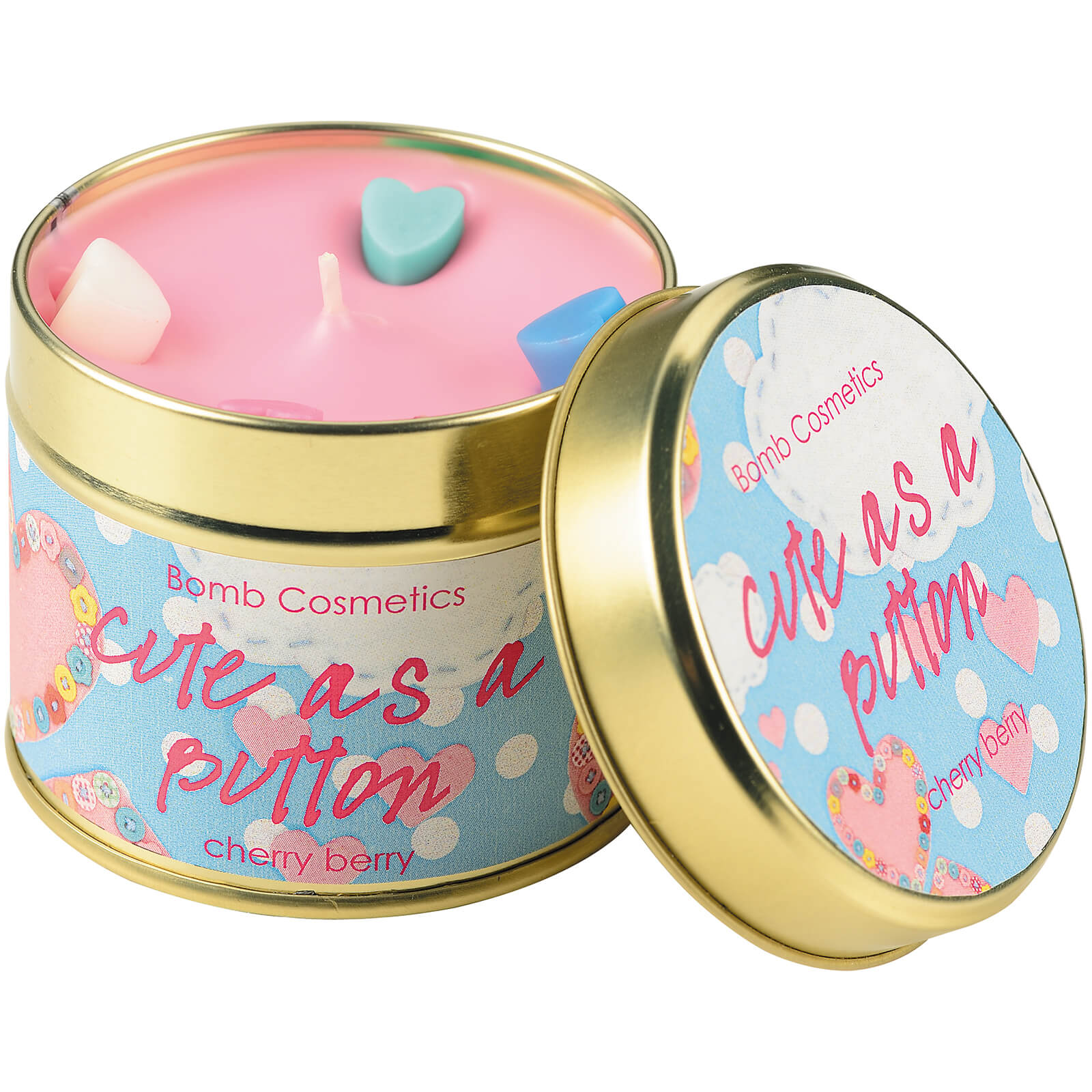 Bomb Cosmetics Cute As A Button Tin Candle
