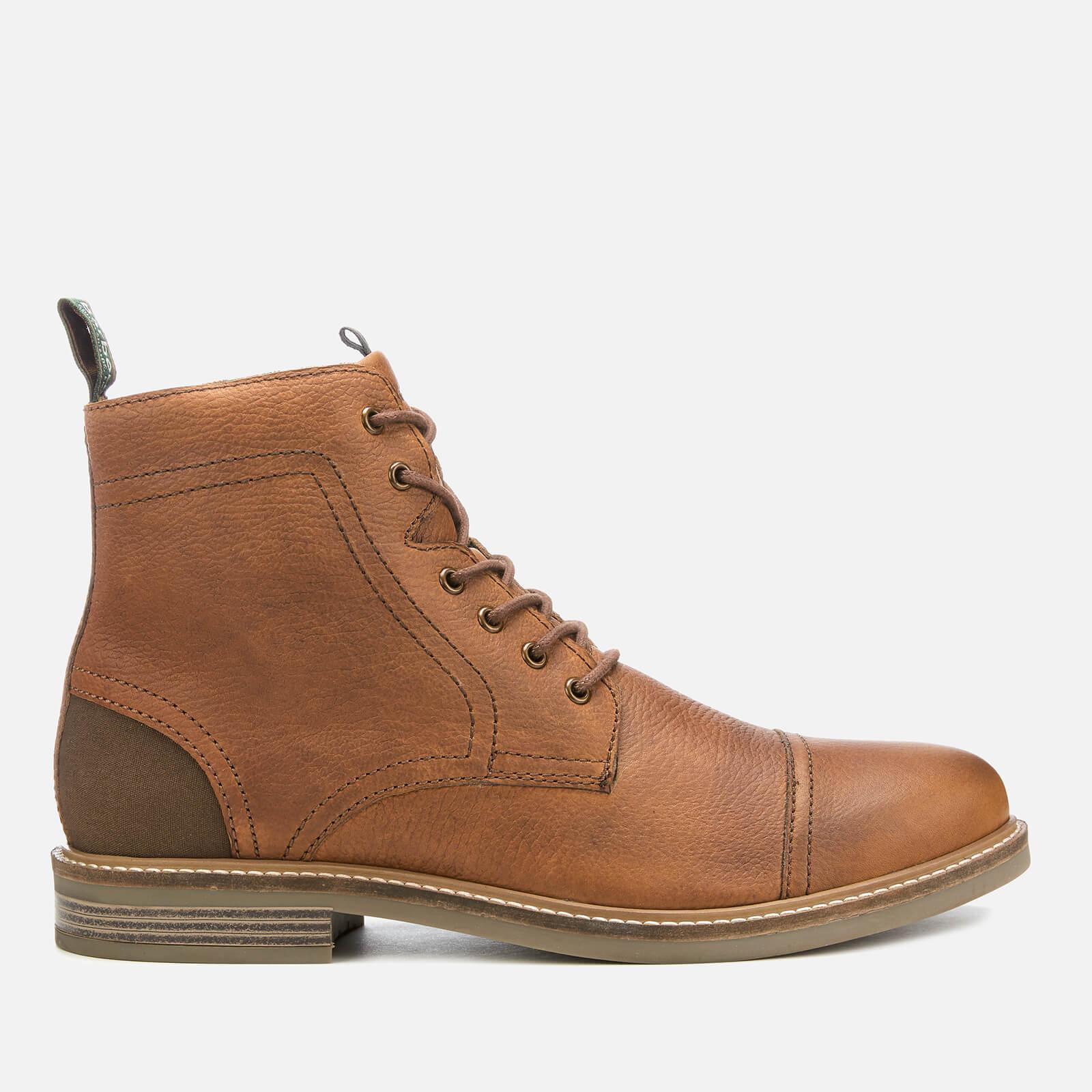 0421803fa4c Barbour Men's Dalton Leather Toe Cap Lace Up Boots - Cognac Texas