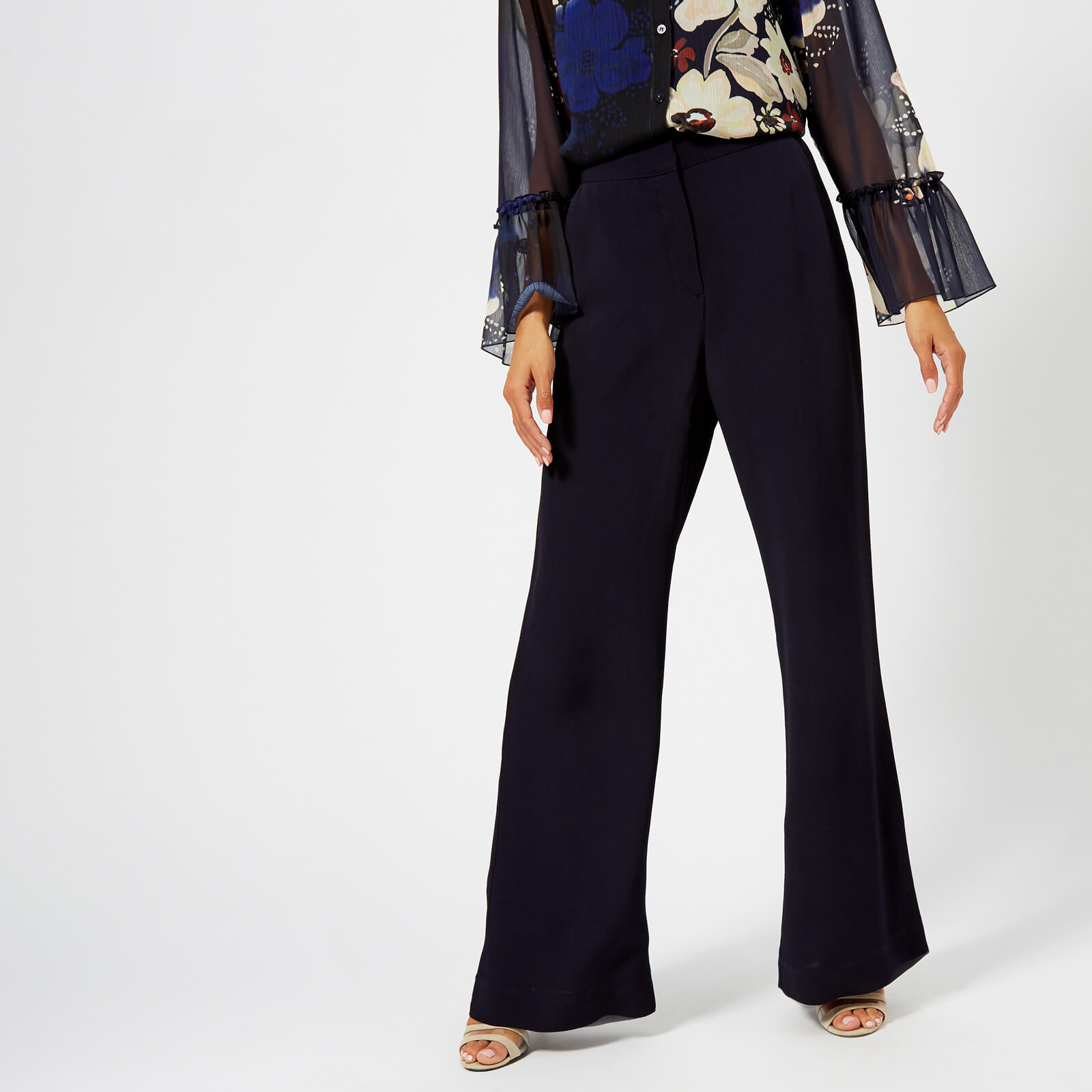 5d4bbf077c02 See By Chloé Women s Wide Leg Trousers - Ink Navy - Free UK Delivery ...