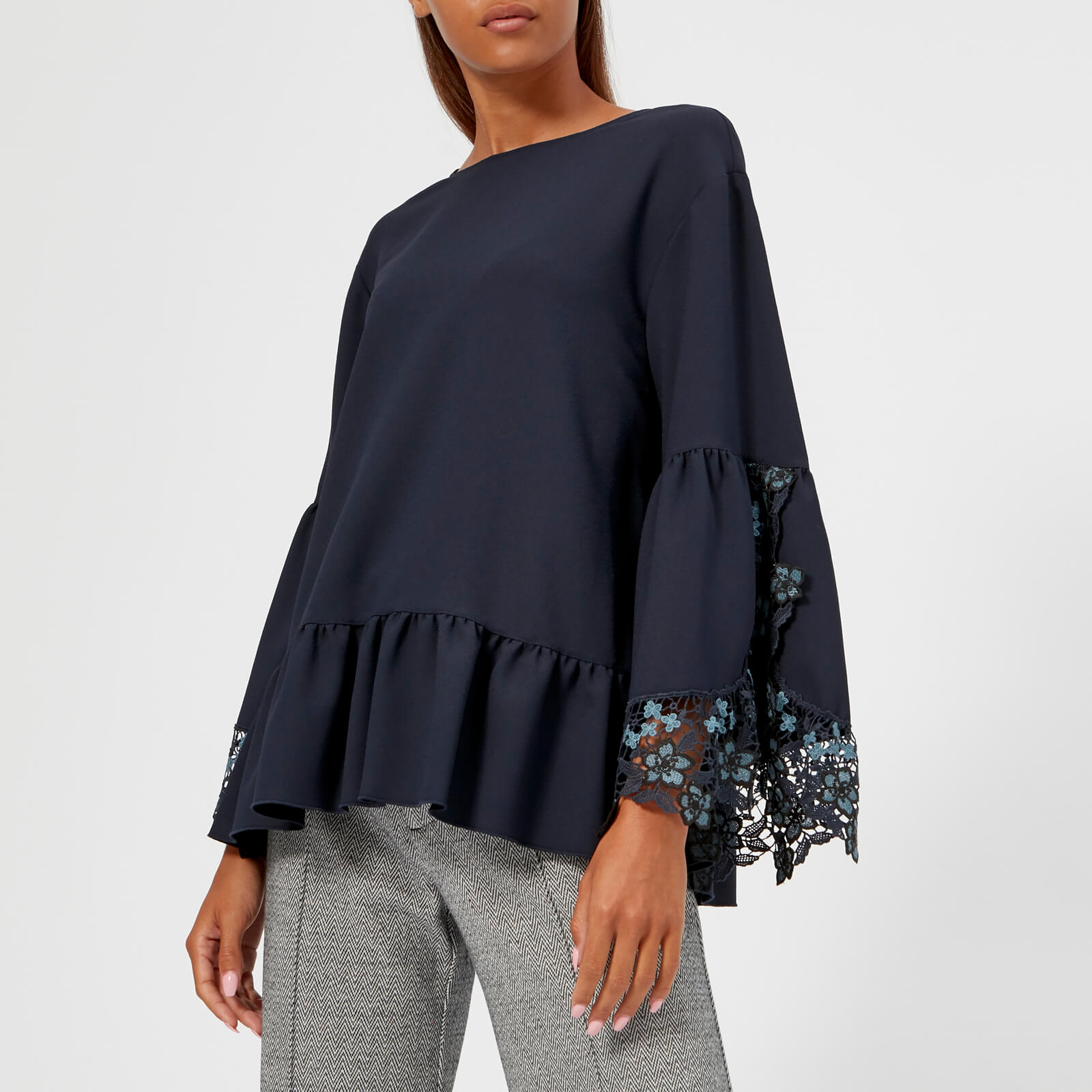 9cefdbd506cc86 See By Chloé Women's Lace Blouse - Dark Sapphire - Free UK Delivery over £50