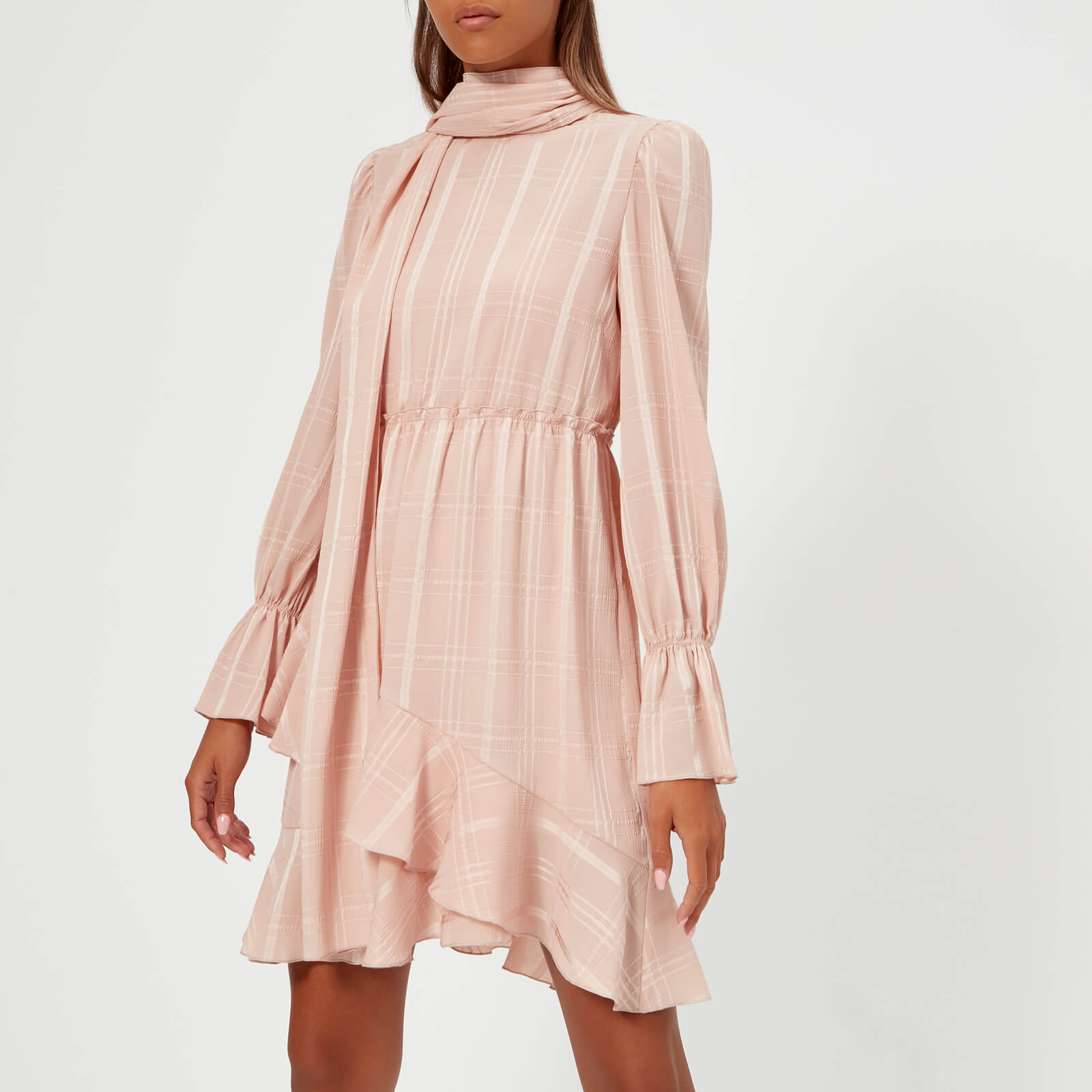 6a3dcd8d297 See By Chloé Women s Ruffle Long Sleeve Dress - Smoky Pink - Free UK ...