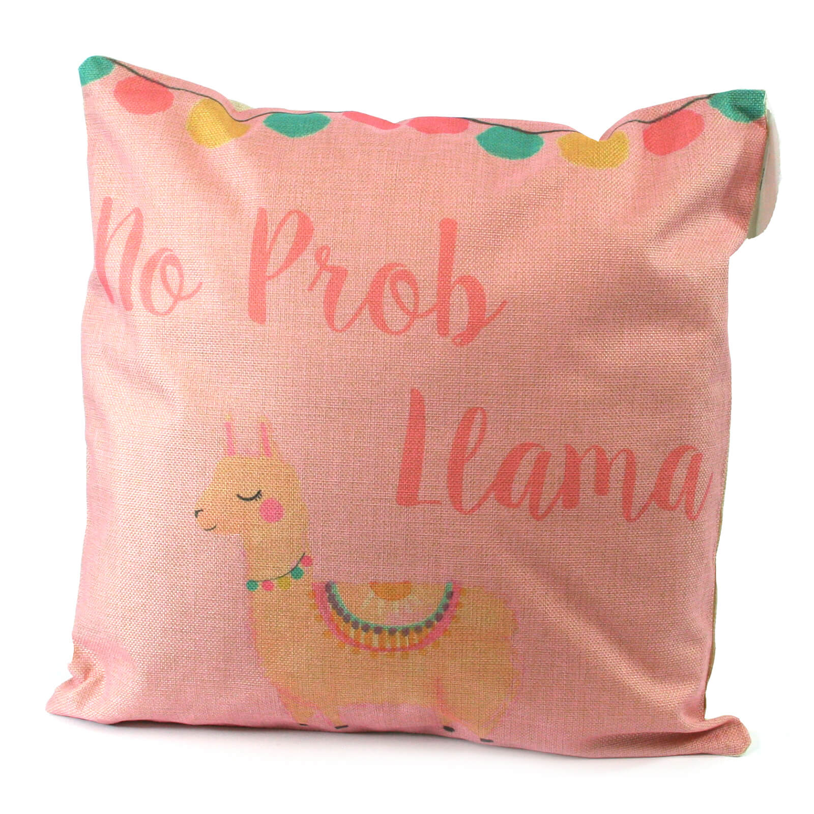 Black Ginger Llama Cushion