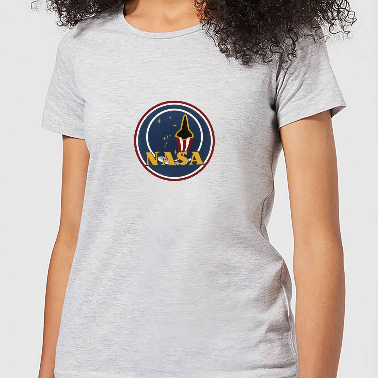 fc66d56b NASA JM Patch Women's T-Shirt - Grey Clothing | Zavvi