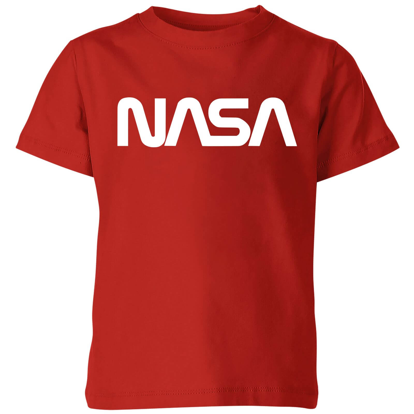 NASA Worm White Logotype Kids