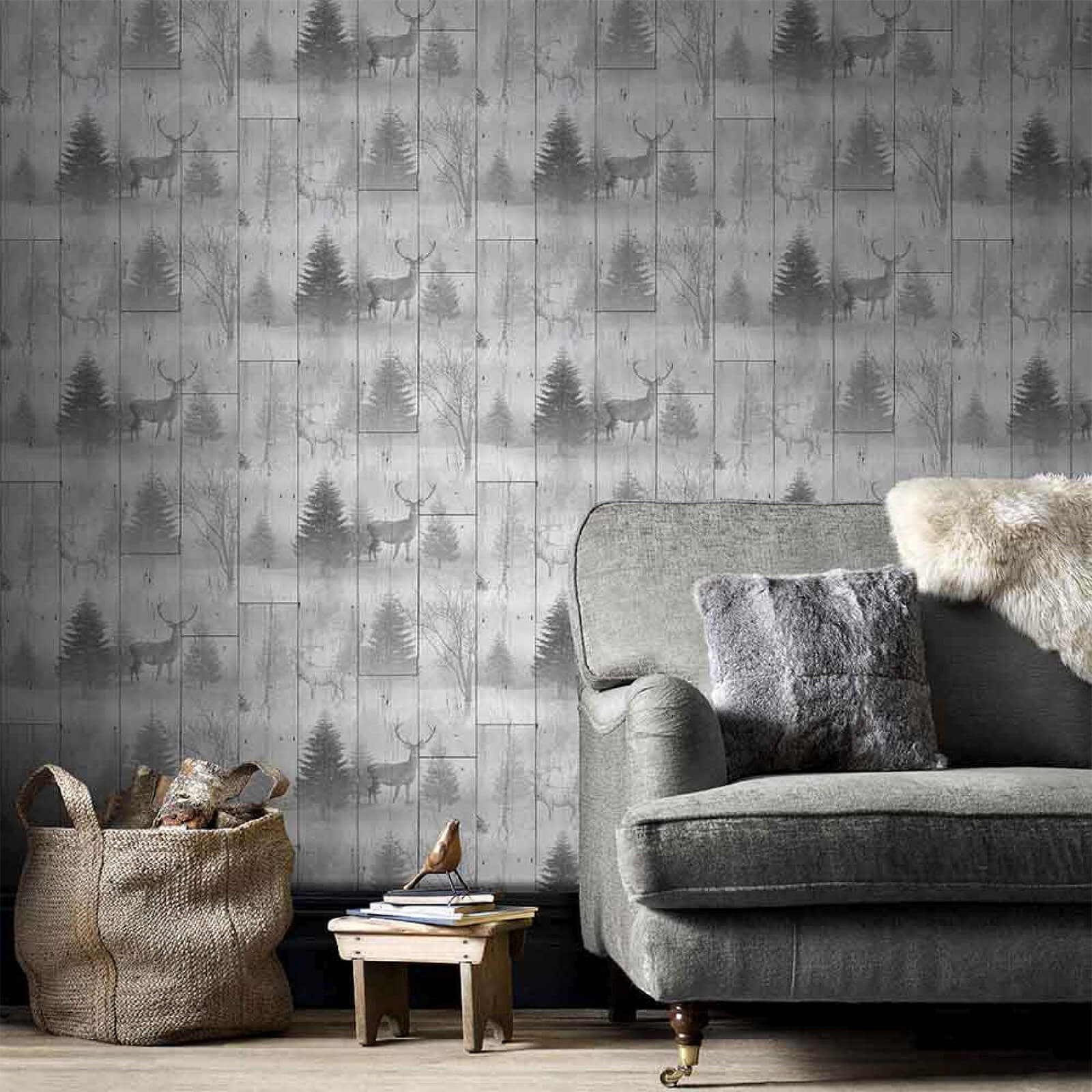 Superfresco Easy Grey Highland Plank Wallpaper