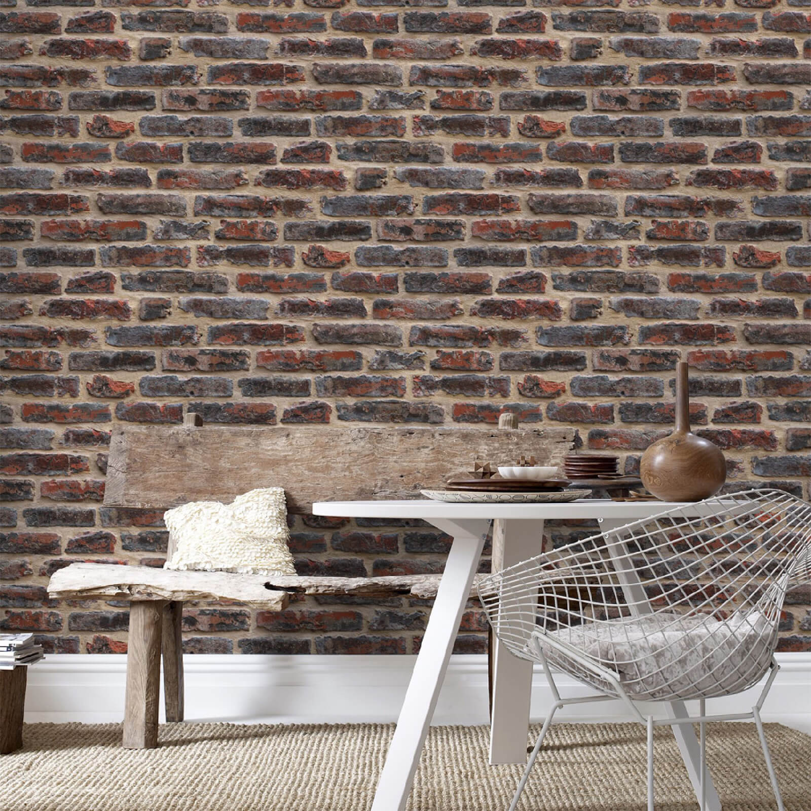 Superfresco Easy Rouge Industrial Brick Wallpaper