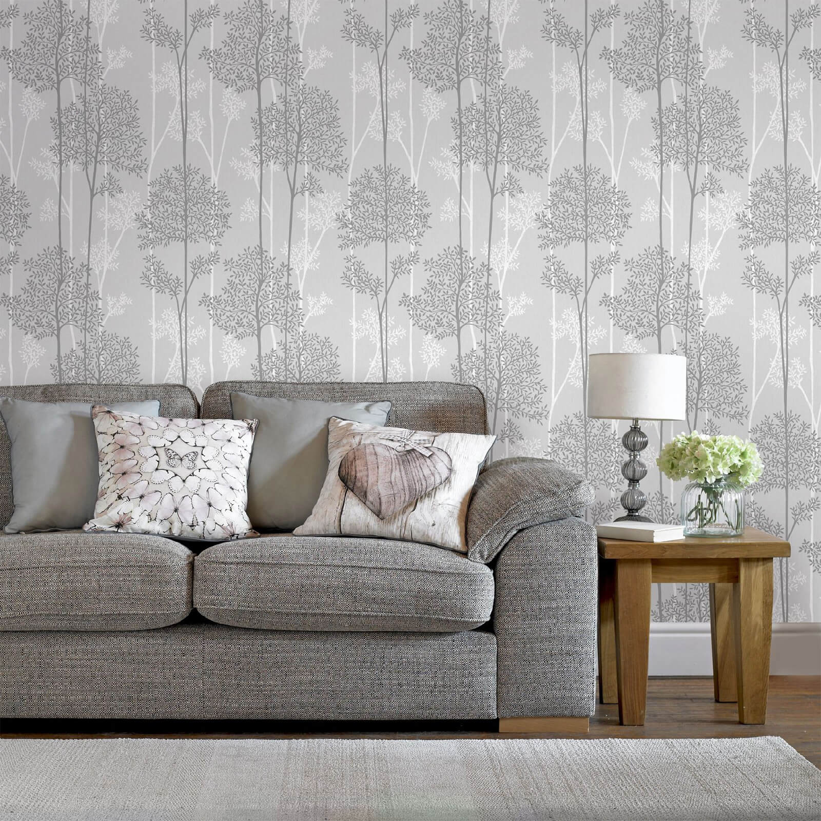 Superfresco Easy Grey Eternal Floral Wallpaper