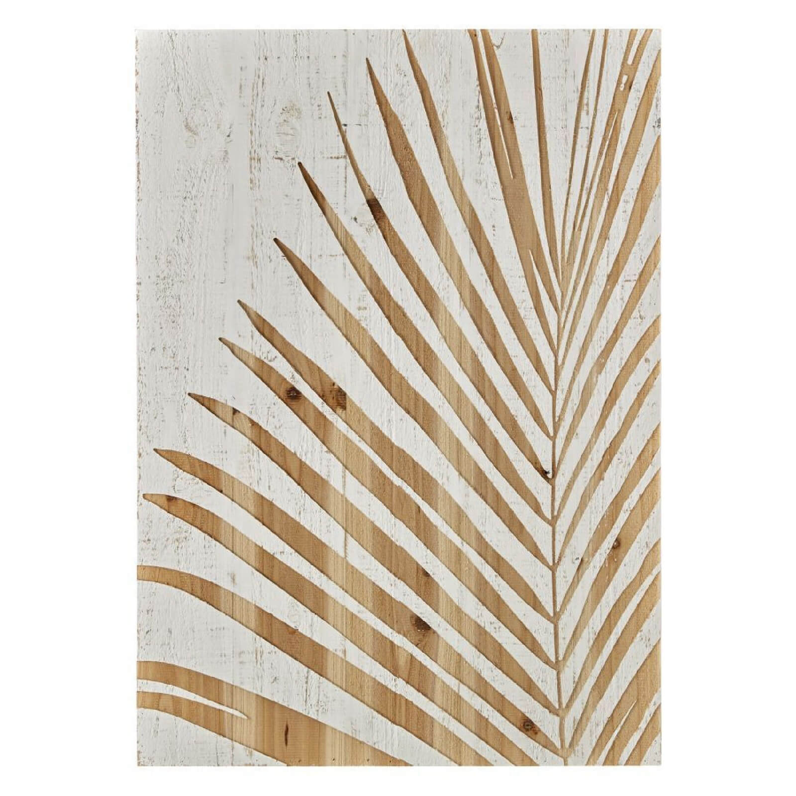 Art for the Home Palm Leaf Wood Panel