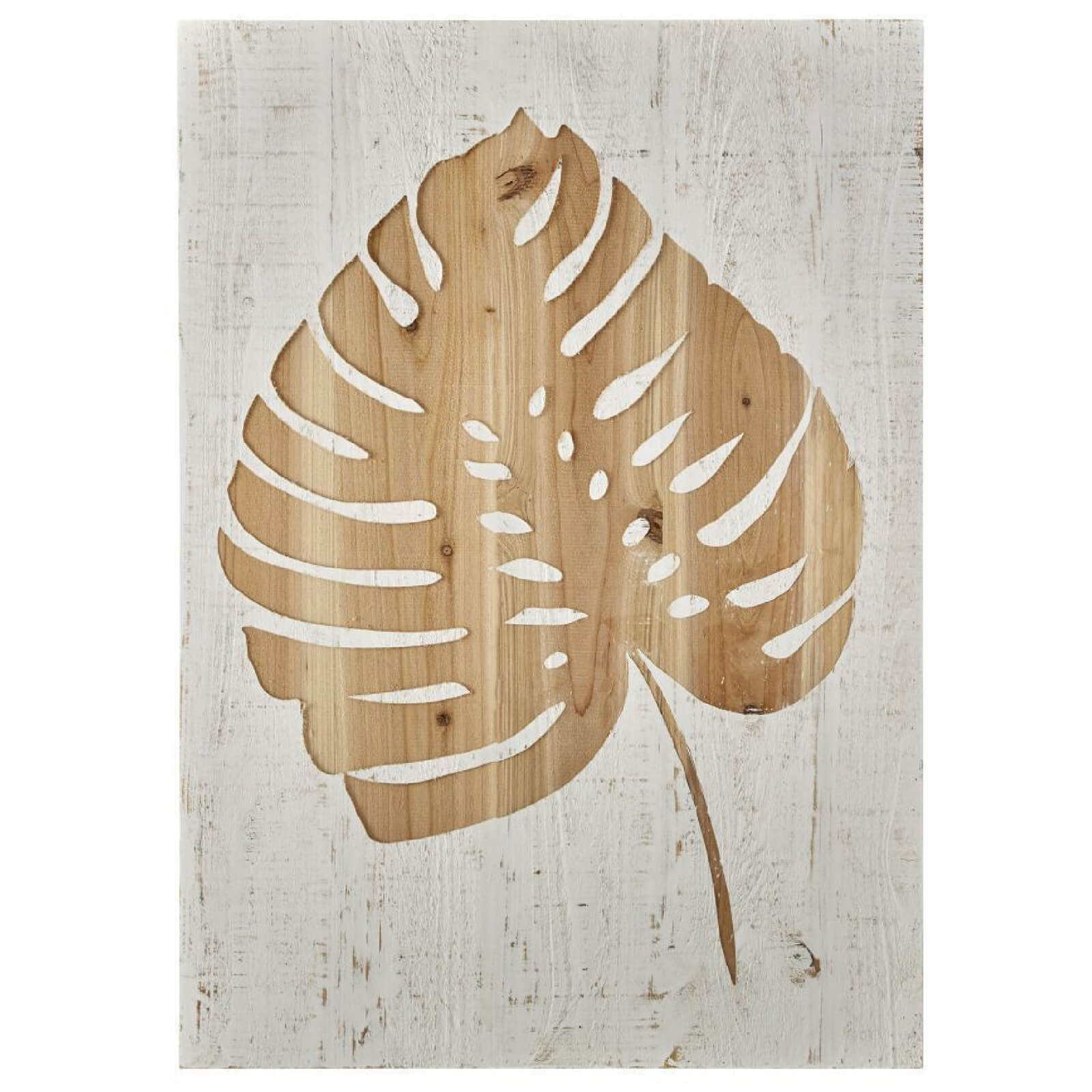 Art for the Home Tropical Leaf Wood Panel