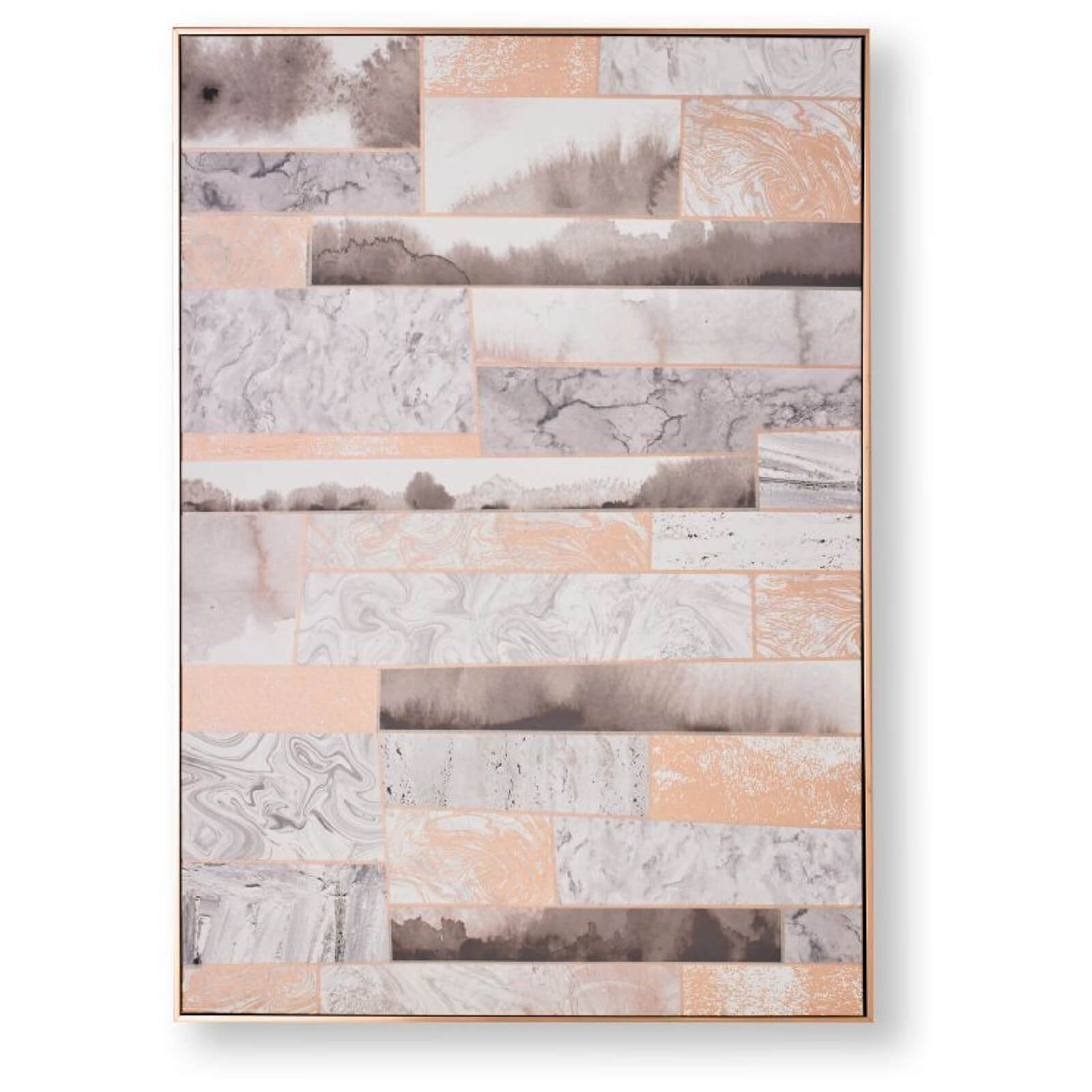 Art for the Home Rose Gold Quartz Dimension Framed Printed Canvas