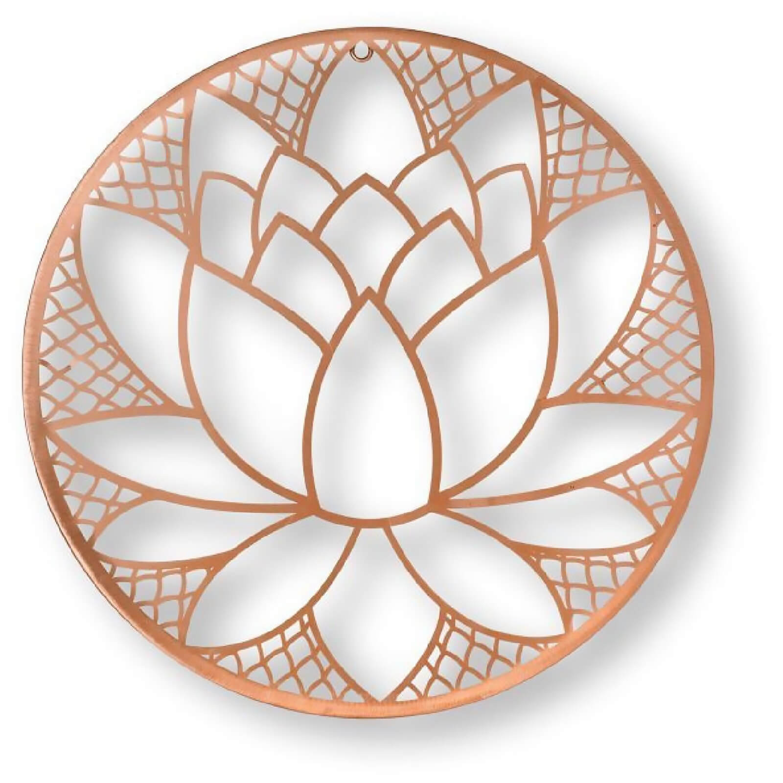 Art for the home rose gold lotus blossom wire wall art